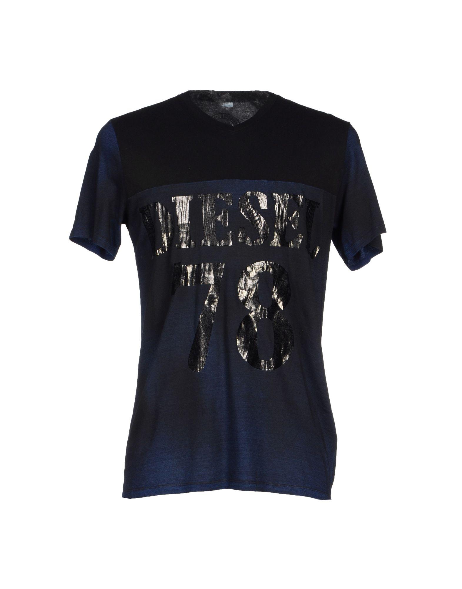 diesel t shirt in blue for men dark blue lyst. Black Bedroom Furniture Sets. Home Design Ideas
