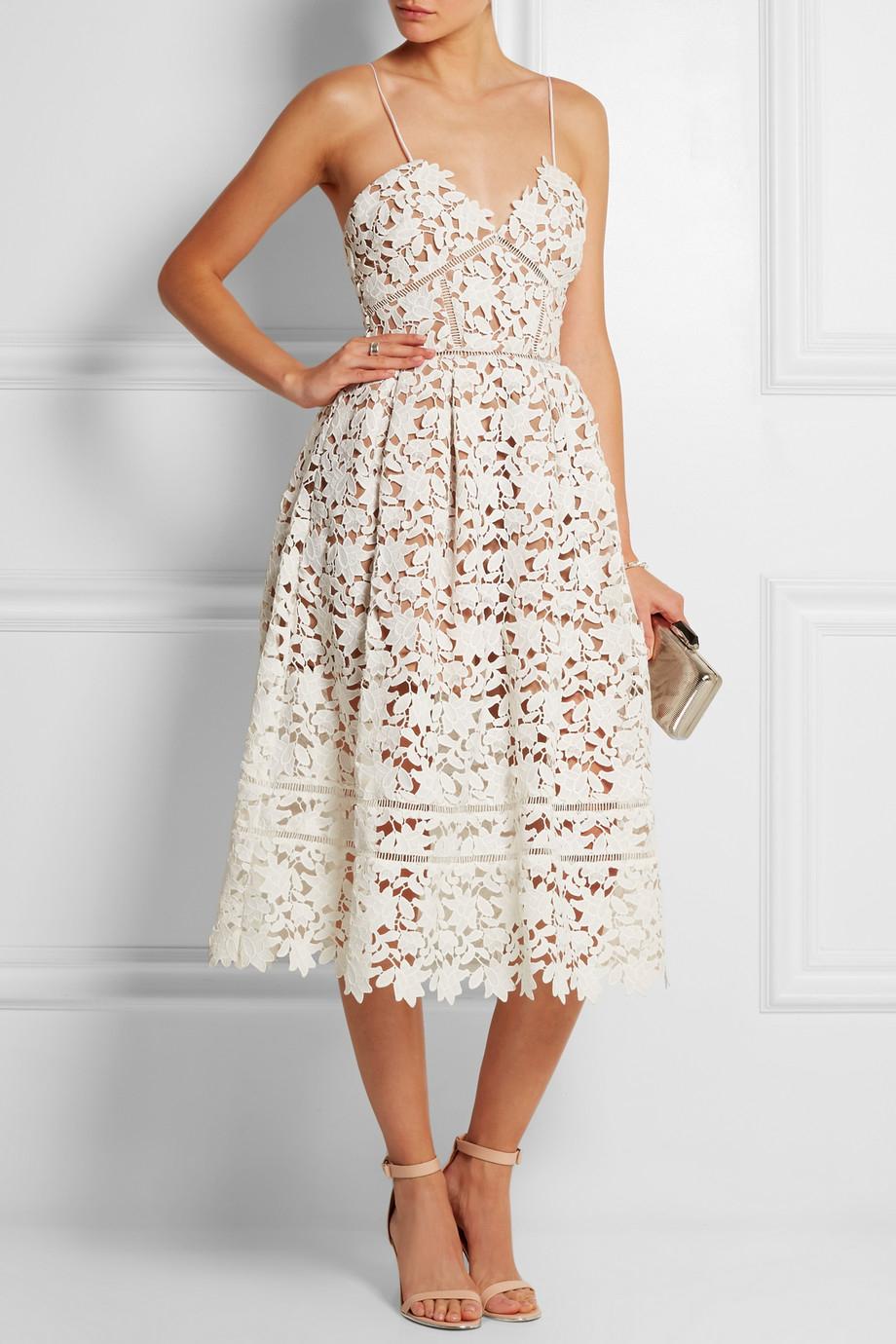 Self Portrait Azaelea Floral Lace Dress In White Lyst