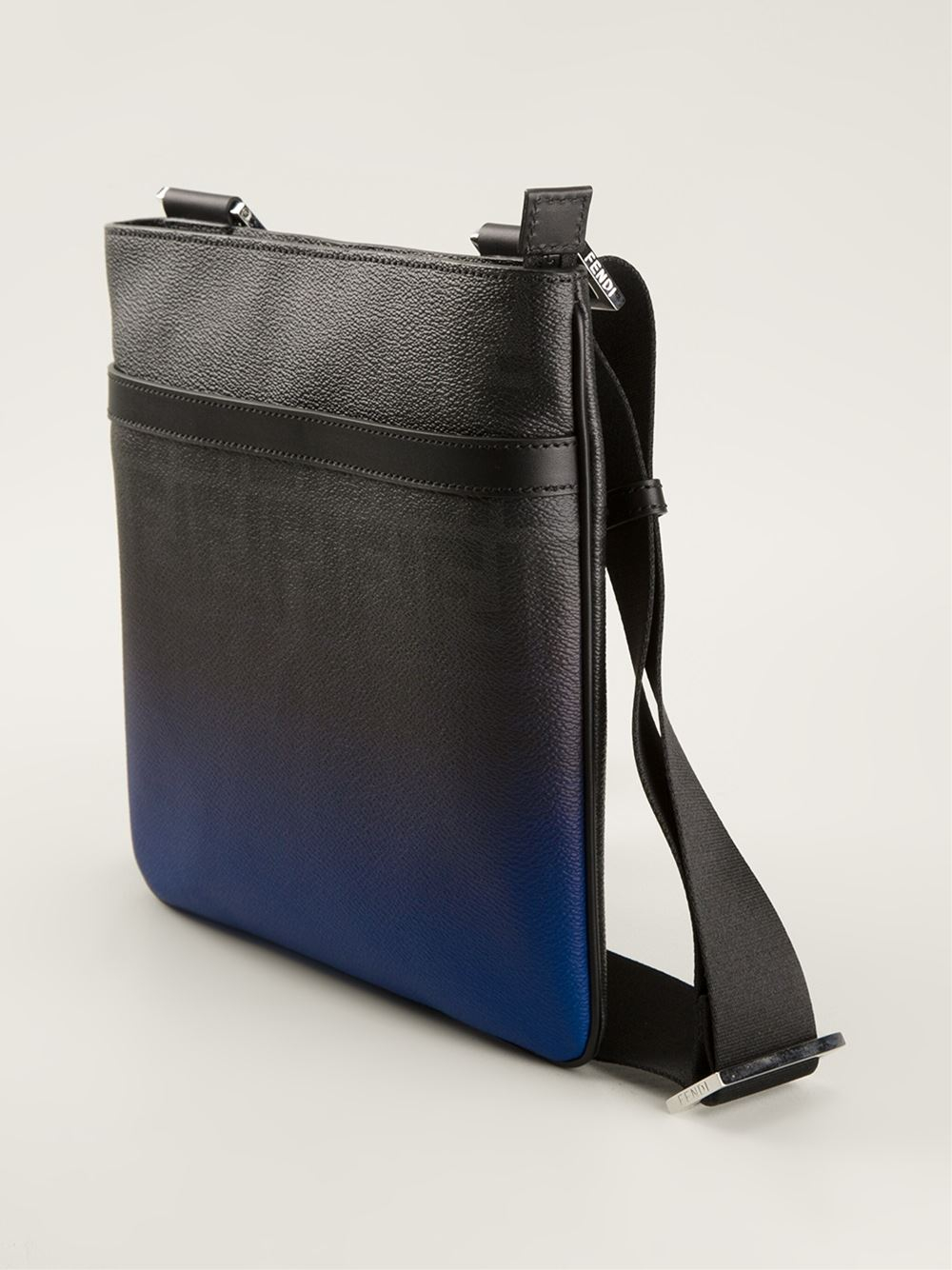 c19677b409b6 ... best lyst fendi flat messenger bag in blue for men 5ac83 2eb0e