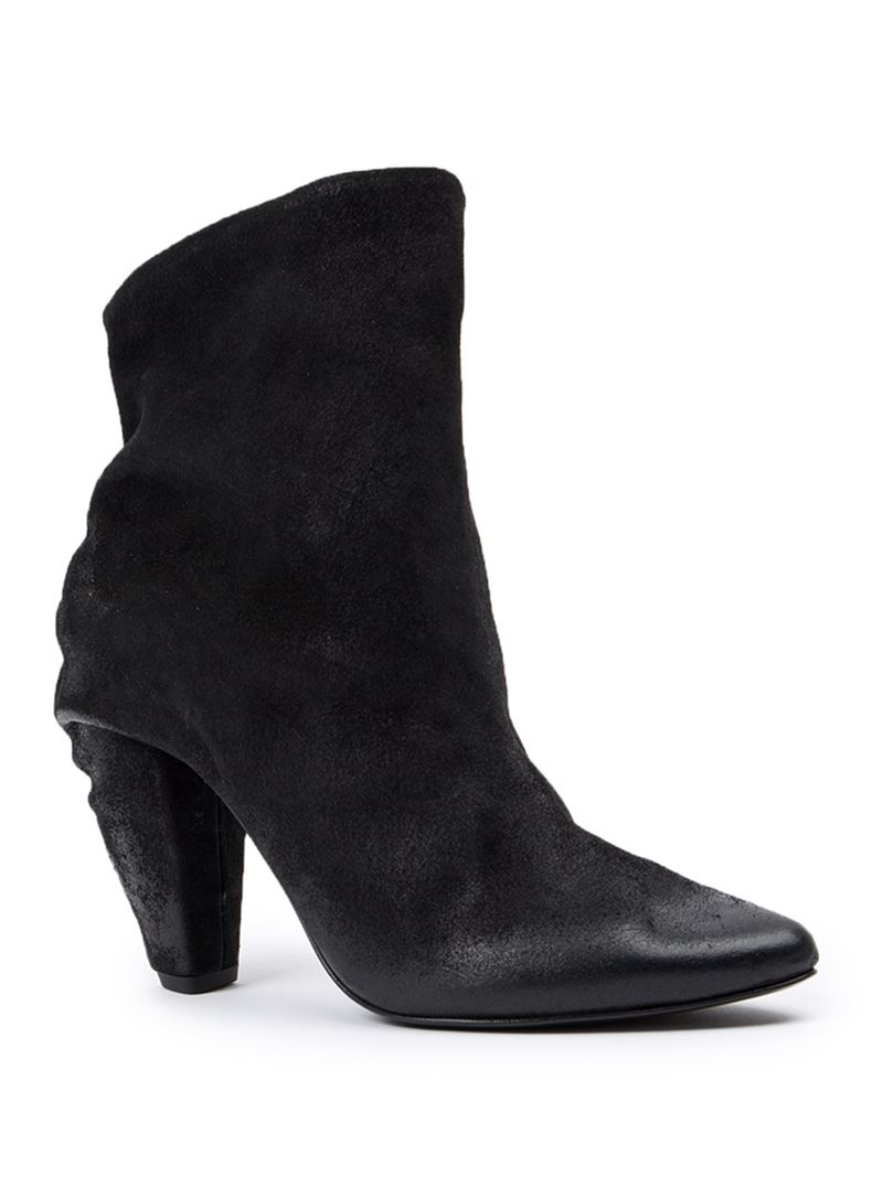 mars 232 ll chunky heel ankle boots in black lyst