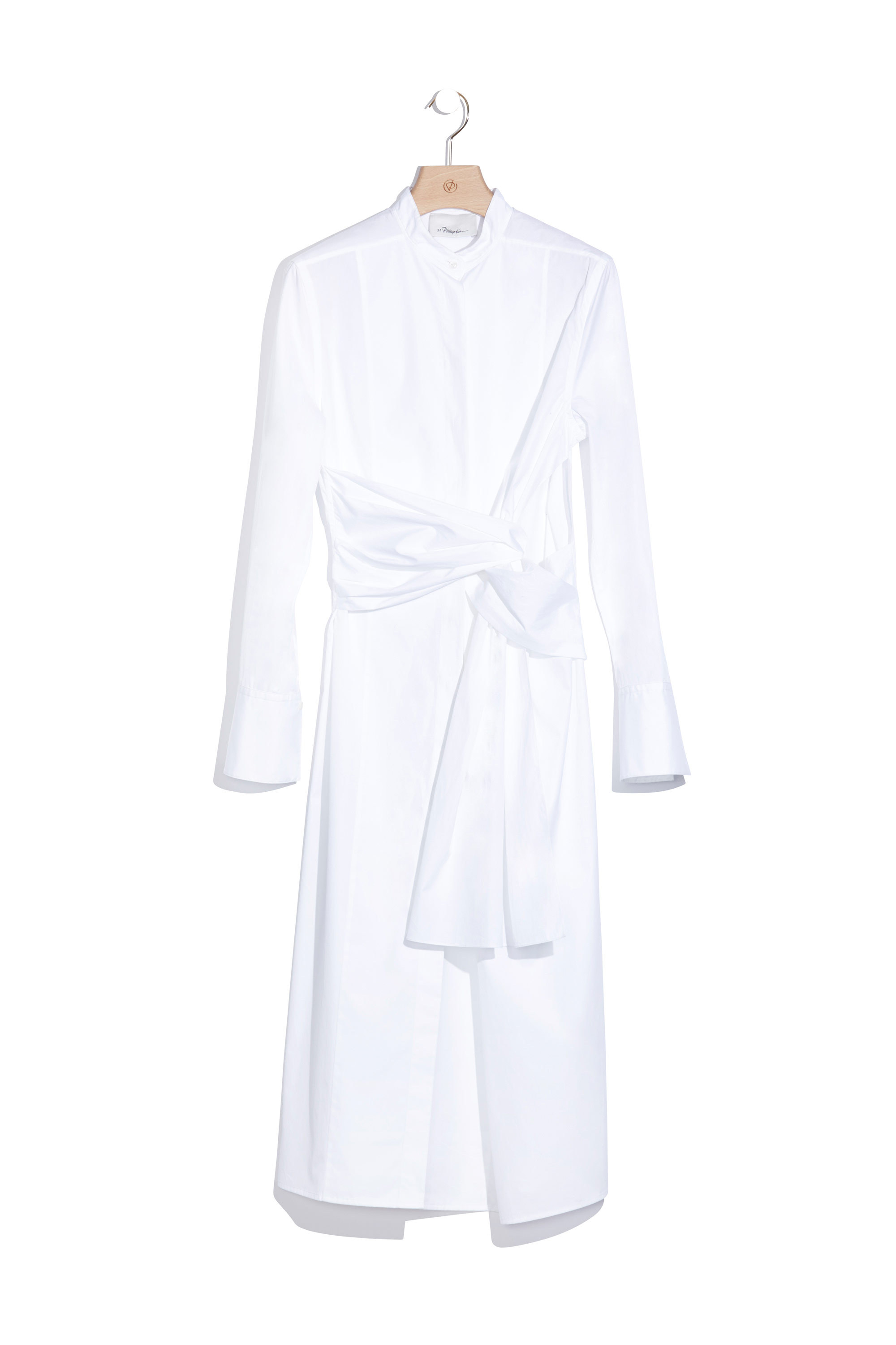 3 1 phillip lim long sleeve shirtdress with twist detail