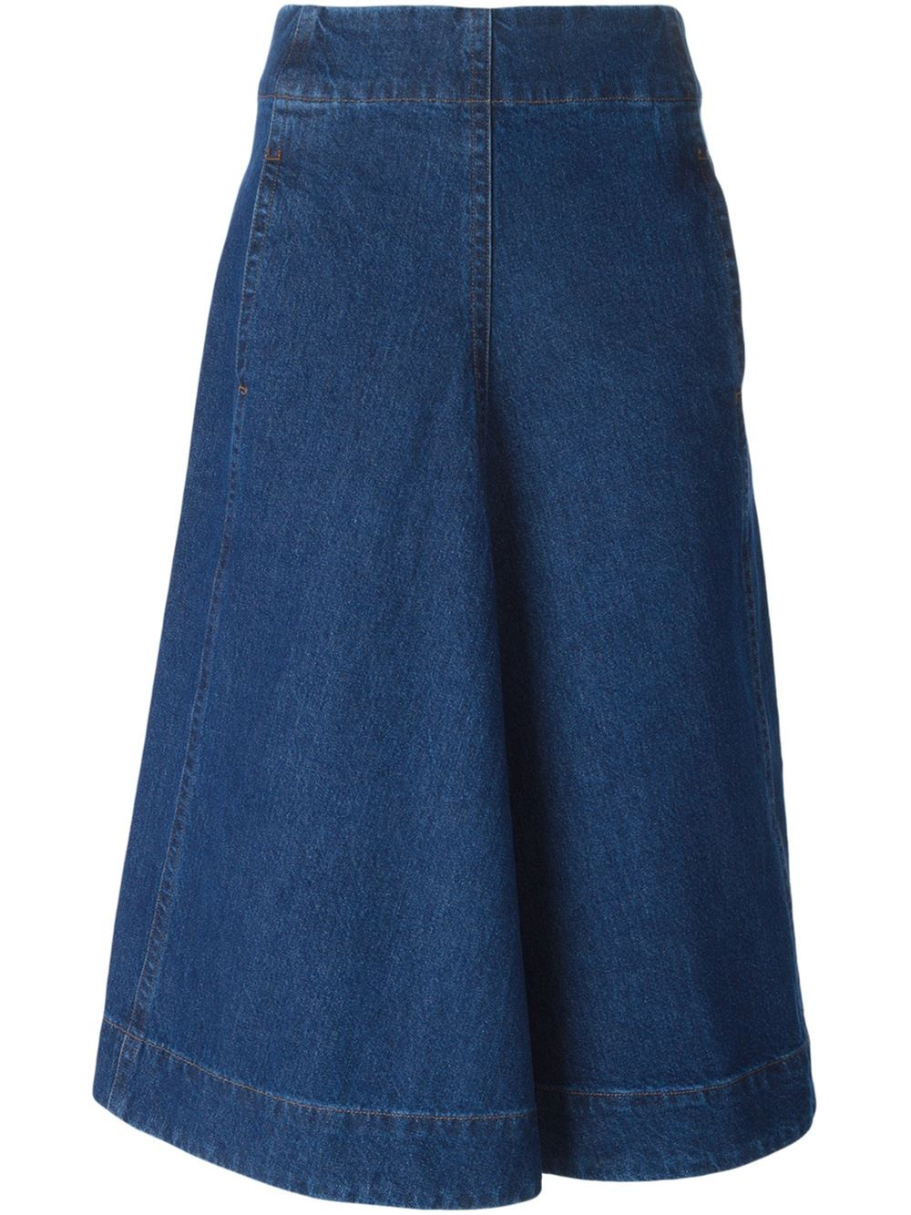 lemaire a line denim skirt in blue lyst