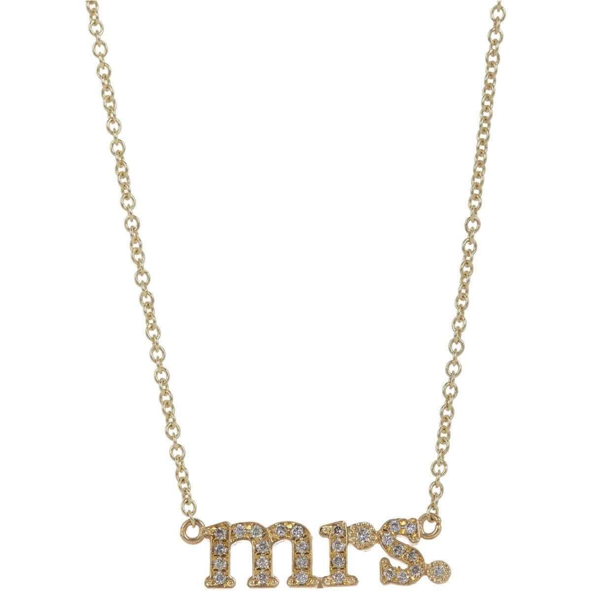Jennifer meyer Women's Initial Necklace in Gold | Lyst
