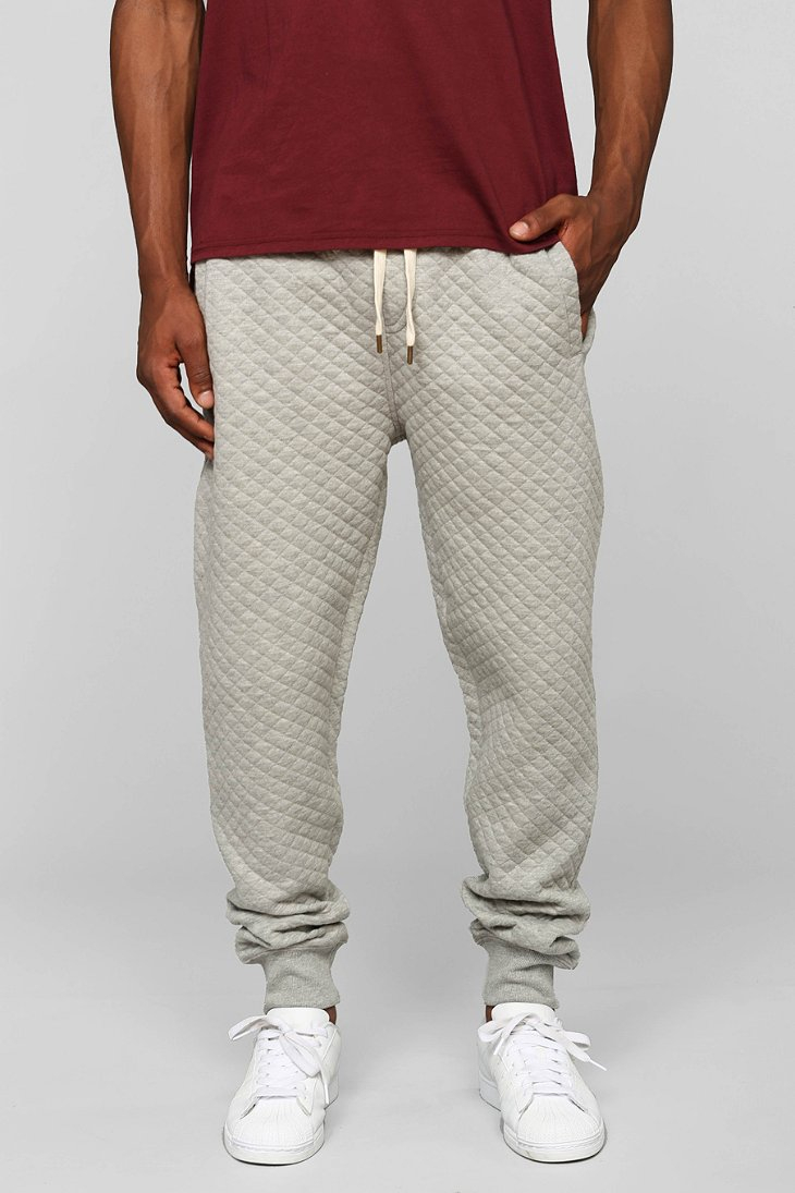 Native Youth Quilted Jogger Pant In Gray For Men Lyst