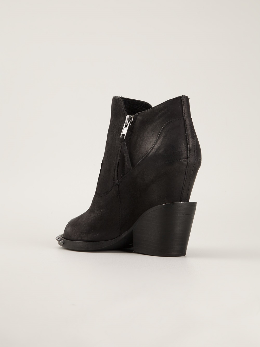ash open toe ankle boots in black lyst