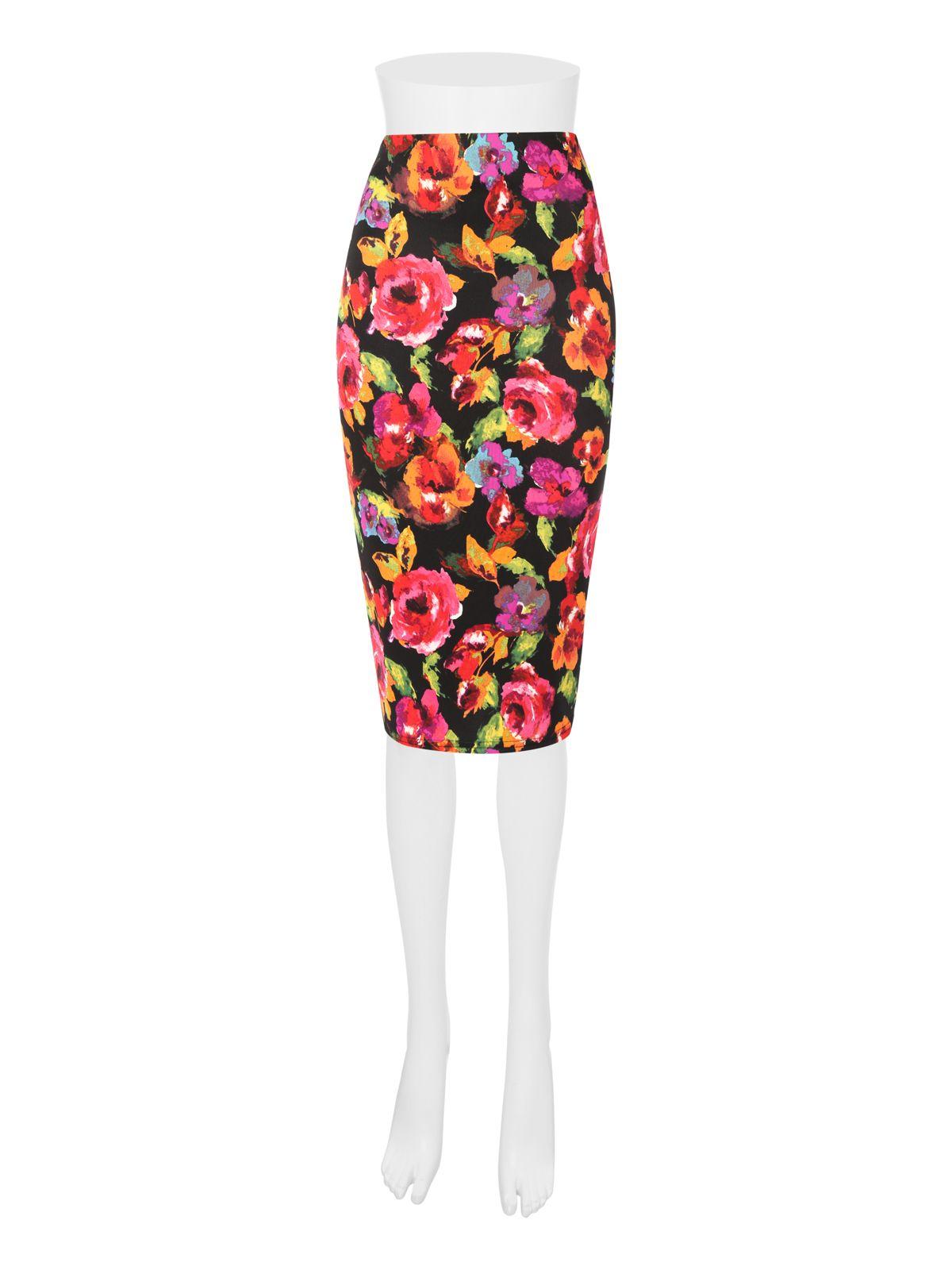 Jane Norman High Waist Floral Skirt