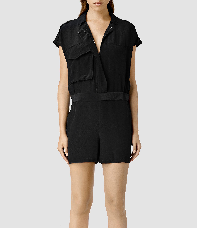 373060d799 AllSaints Laurel Jumpsuit in Black - Lyst