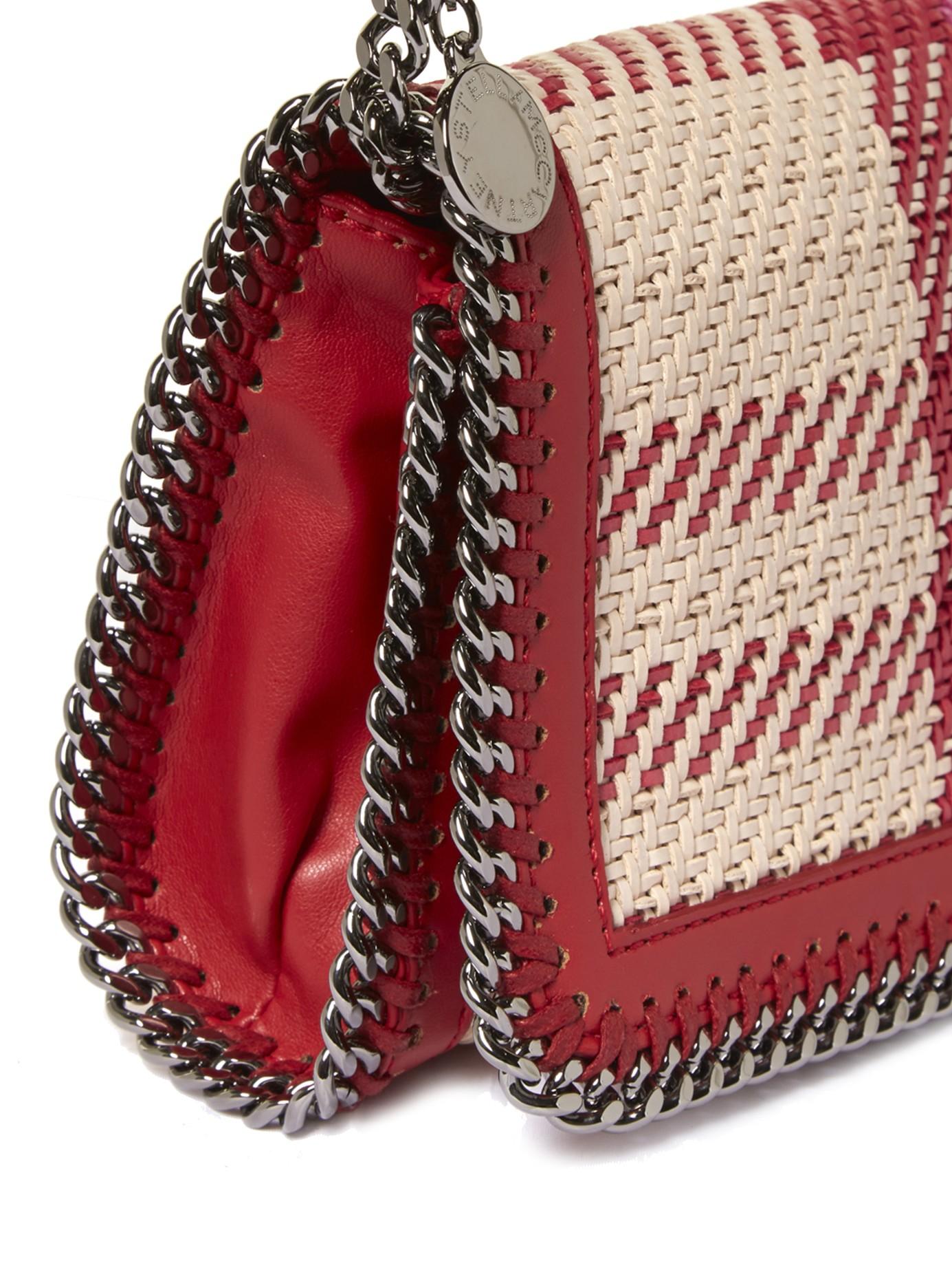 aa7d2f906f Lyst - Stella McCartney Falabella Checked Faux-leather Cross-body ...