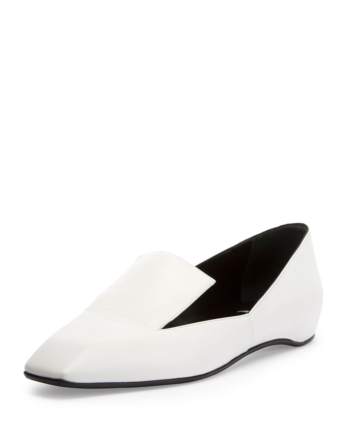 Pierre Hardy Pointed-Toe Leather Flats from china cheap price IZl26ETetY