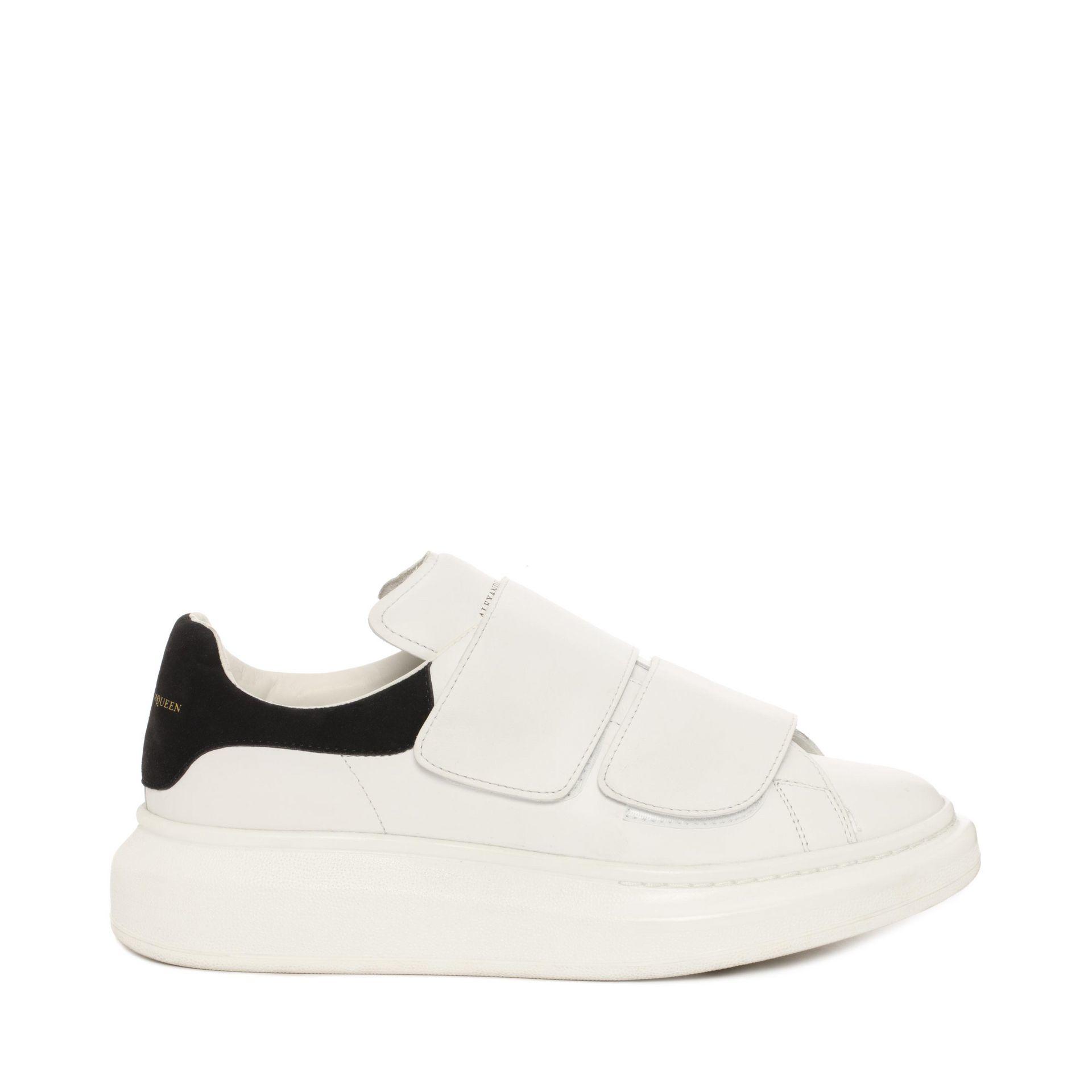 a752b7c7bca6 Lyst - Alexander McQueen Velcro Strap Oversized Sneaker in White