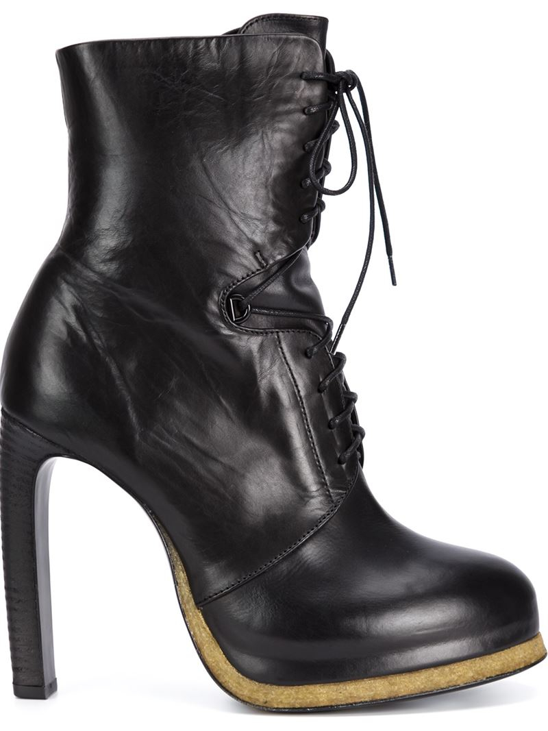 vic mati 233 high heel lace up boots in black lyst