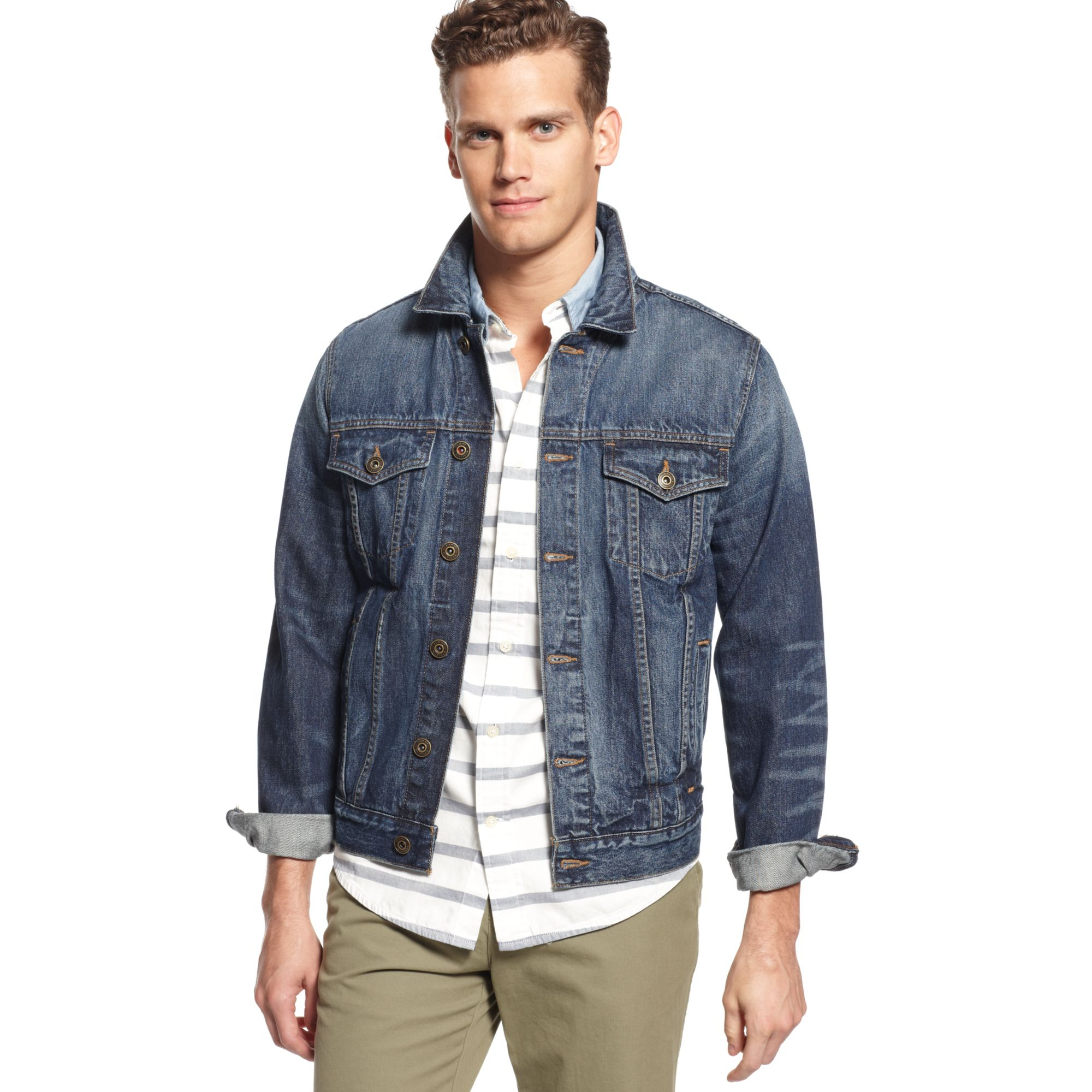 Lyst - Tommy Hilfiger Denim Patchwork Flag Jacket in Blue for Men