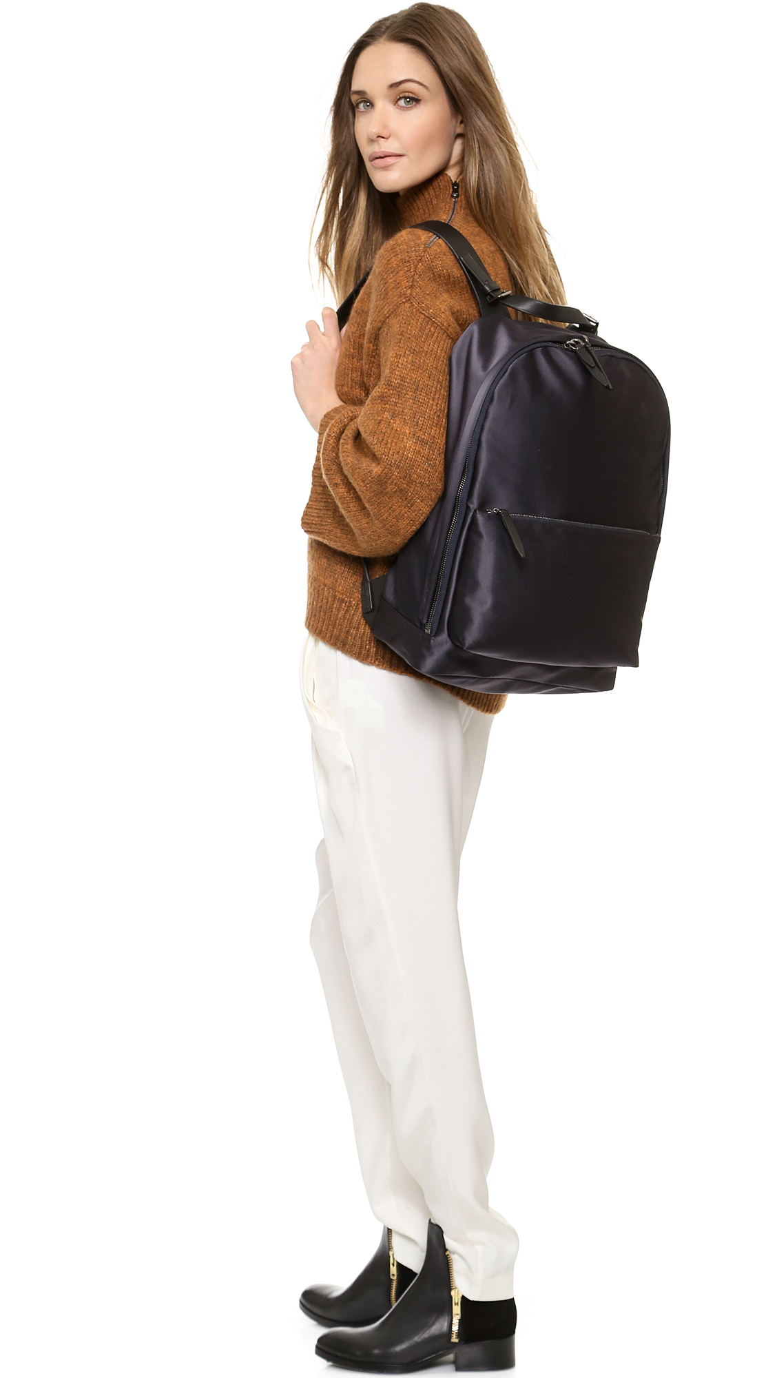 3.1 Phillip Lim Tech Sateen Backpack Navy in Blue