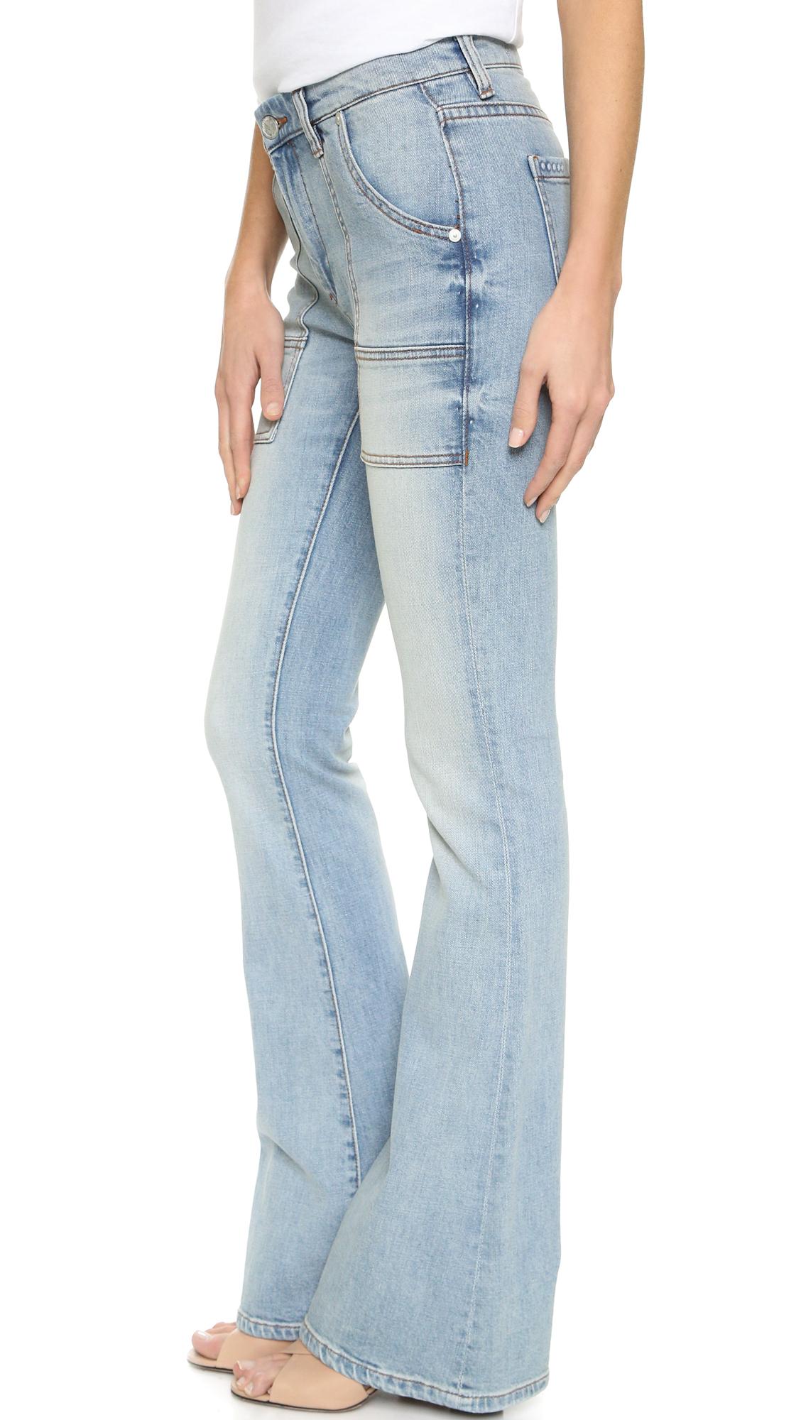 Blank Flare Jeans in Blue | Lyst