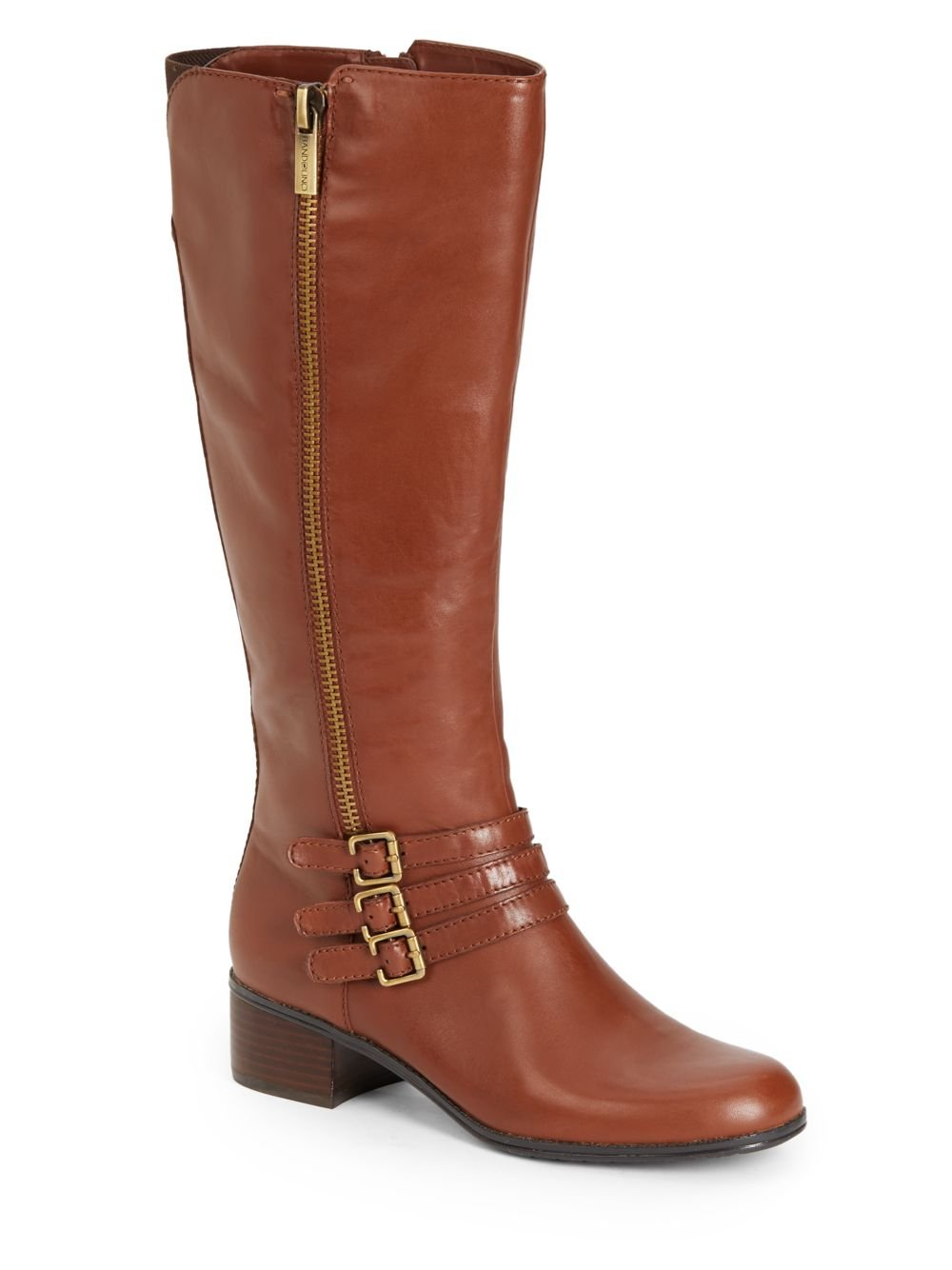 bandolino carson tripple leather boots in brown lyst