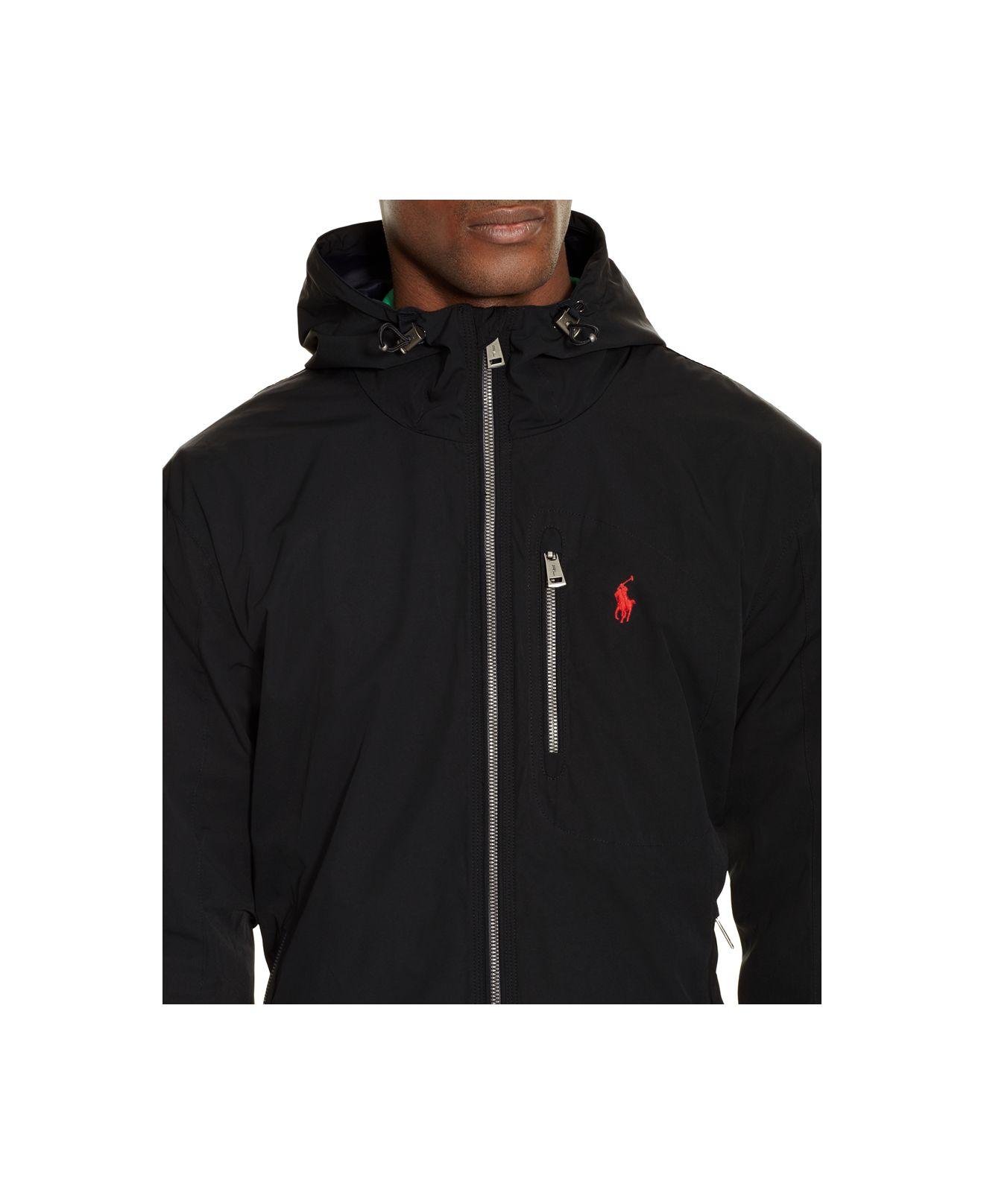 polo ralph lauren hooded anorak jacket in black for men lyst. Black Bedroom Furniture Sets. Home Design Ideas