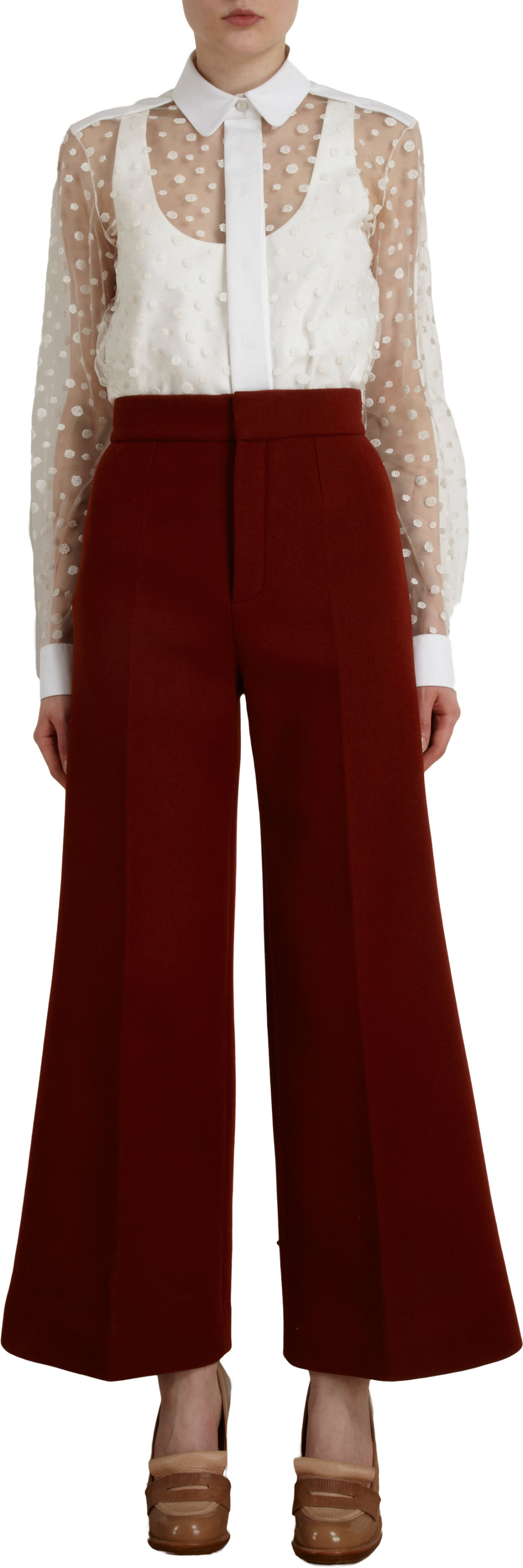 Lyst Chlo 233 Wide Leg Gaucho Pants In Red