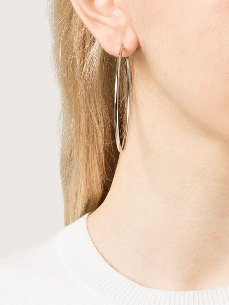 b47d83bc15aa8 Michael Kors Metallic Hoop Earrings
