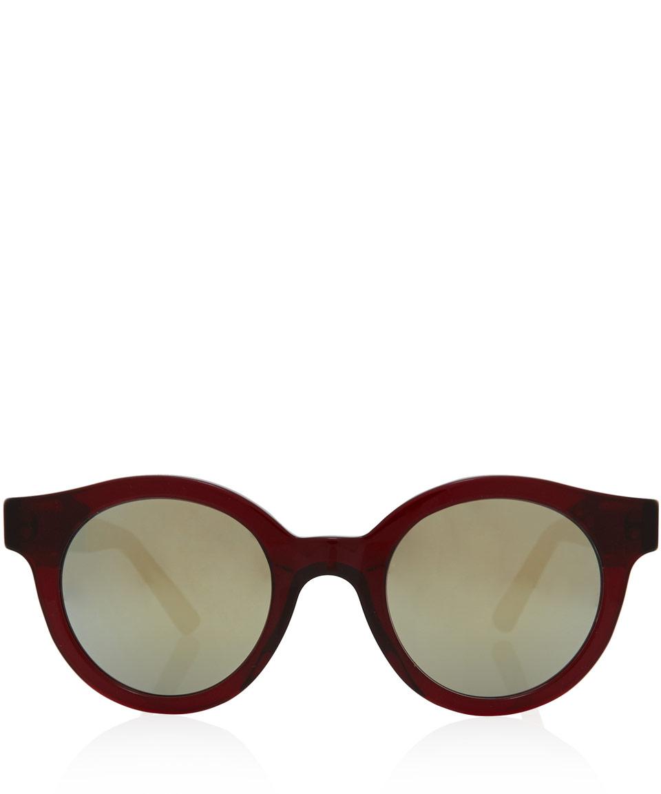 Sheriff & Cherry Burgundy Woody Vintage Sunglasses in Purple for Men