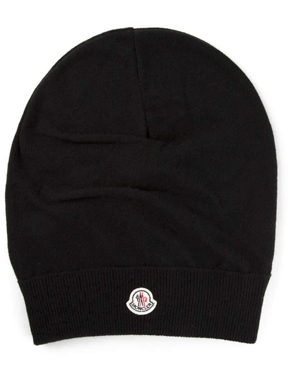 Moncler Slouchy Beanie in Black - Lyst e7749940fb8