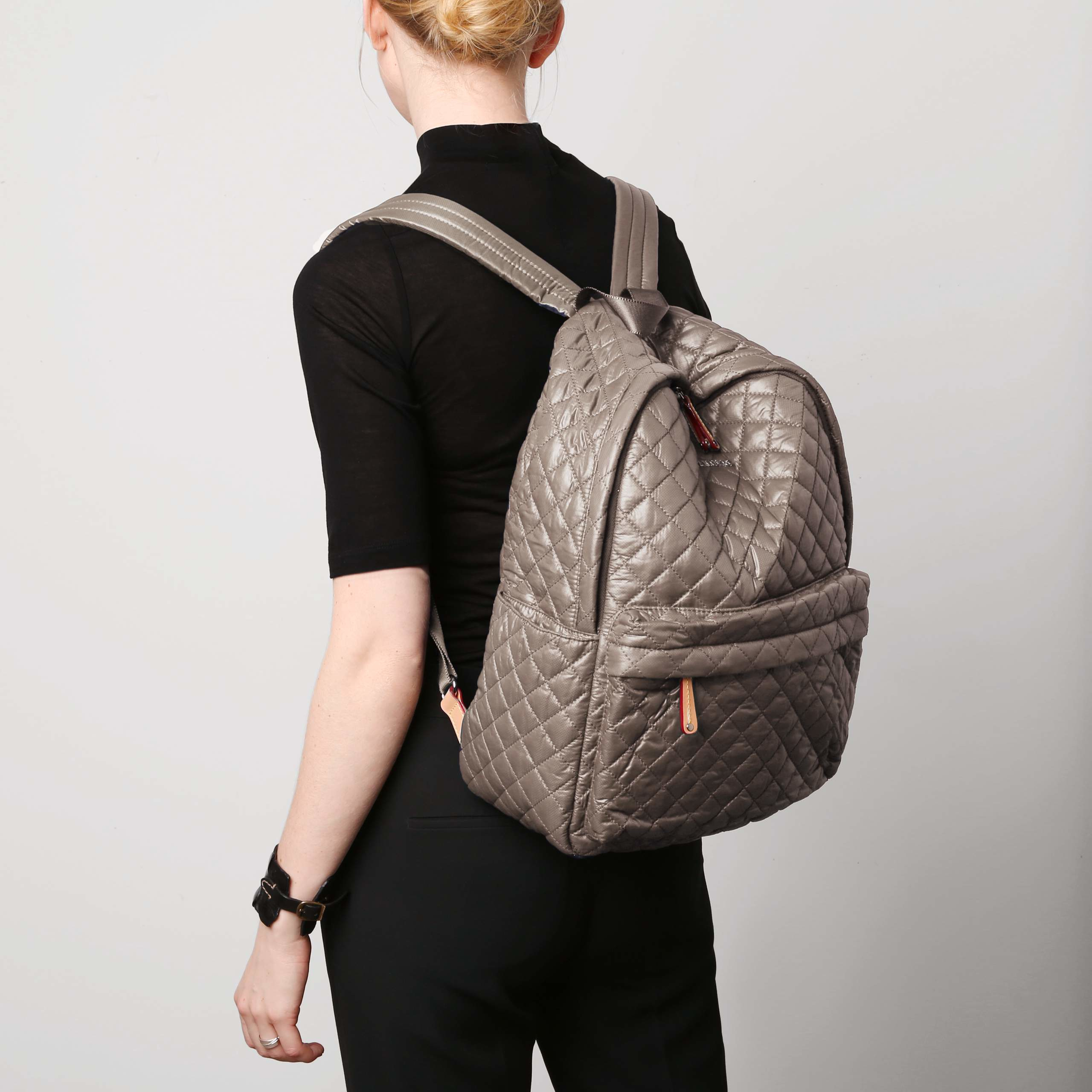 f3acd498ddca Lyst - MZ Wallace Clay Oxford Nylon Metro Back Pack in Natural