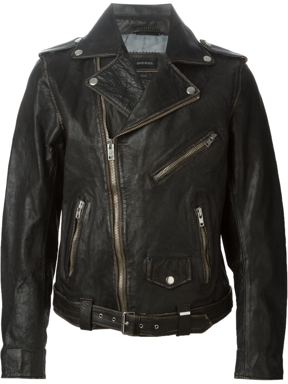 Diesel L Umenirok Biker Jacket In Black For Men Lyst
