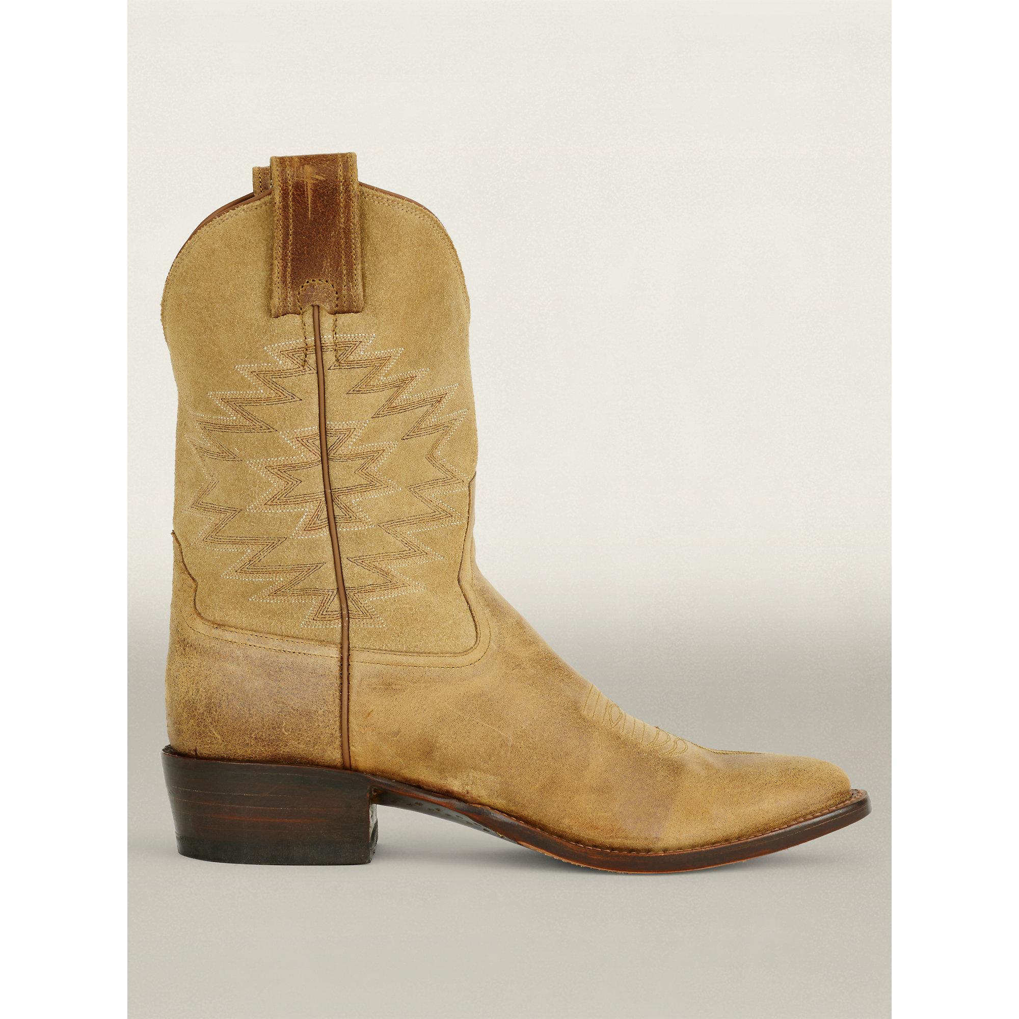 Ralph lauren Leather Plainview Cowboy Boot in Natural   Lyst