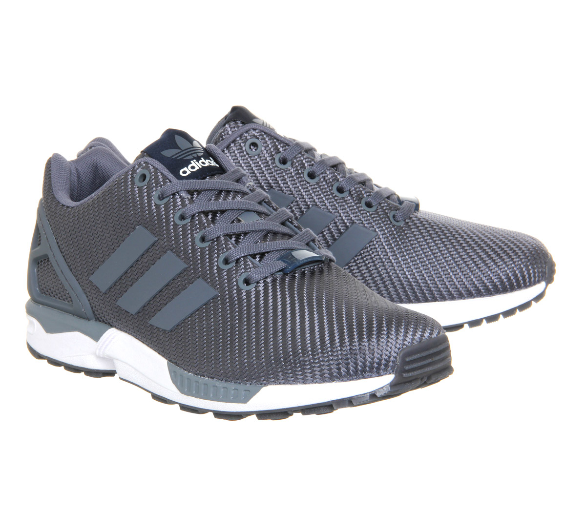 lyst adidas originals zx flux in gray. Black Bedroom Furniture Sets. Home Design Ideas