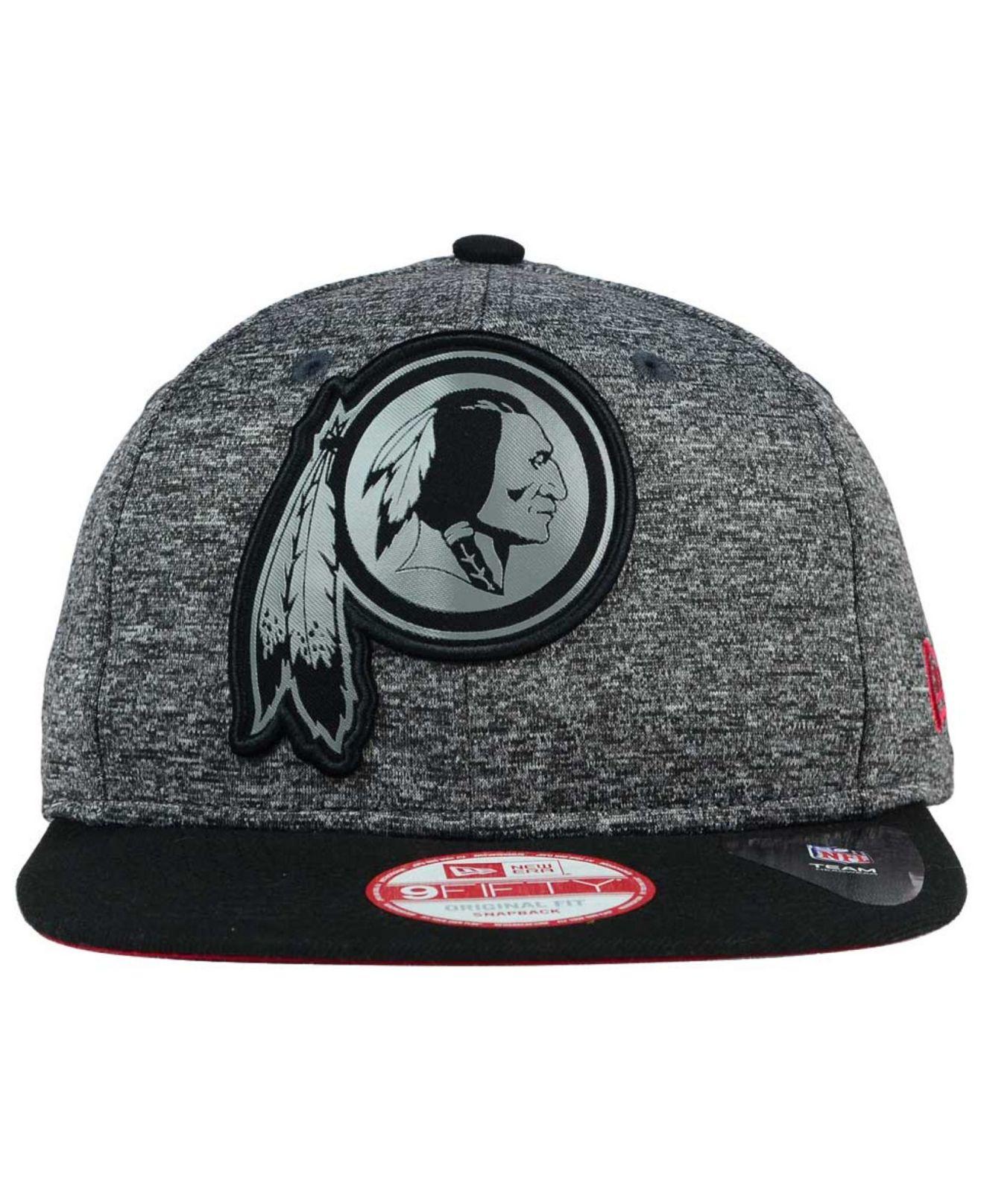 a1cfc6a38c6 Lyst - KTZ Washington Redskins Gridiron 9fifty Snapback Cap in Black ...