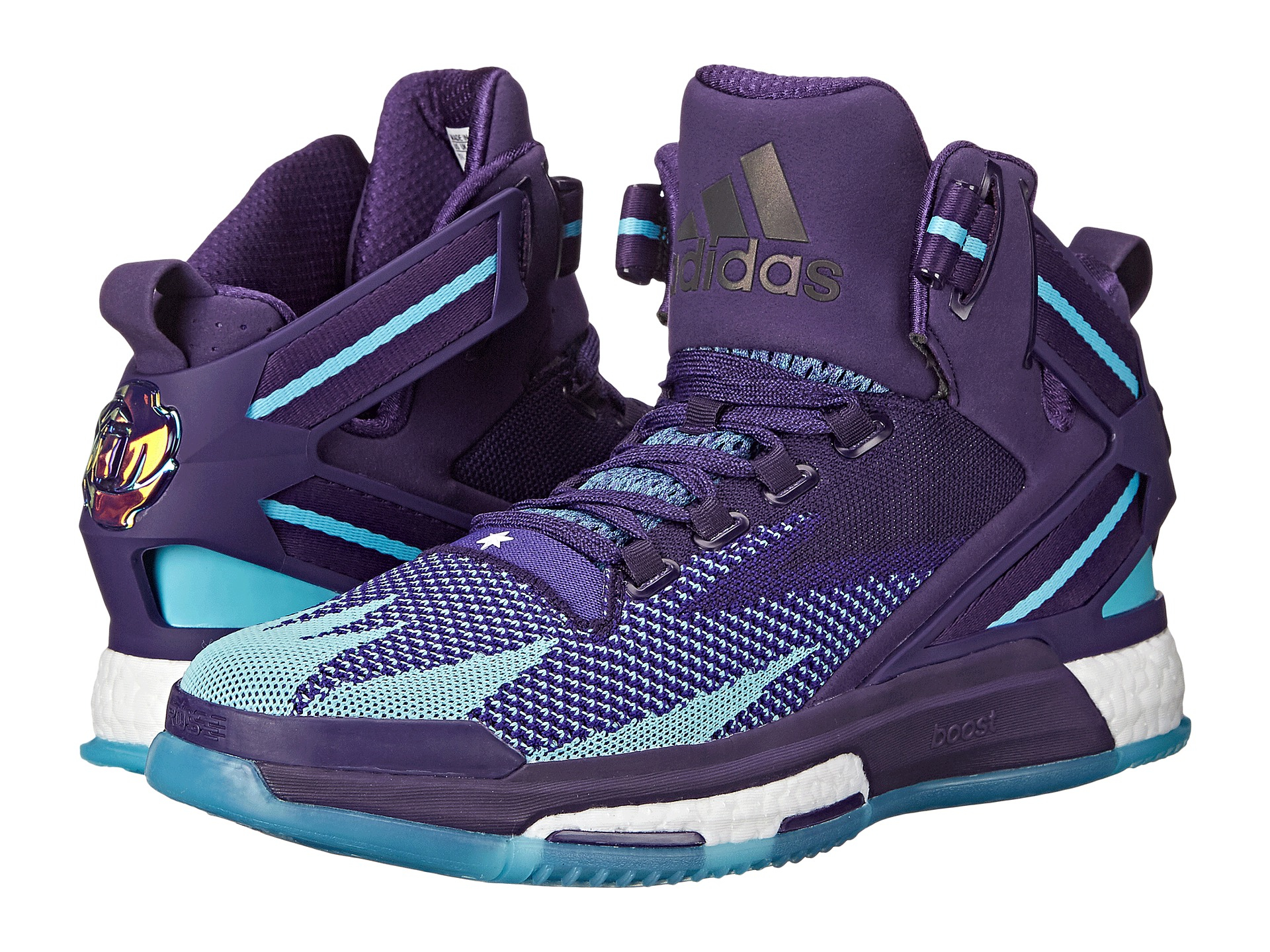 best website ca366 407af ... where to buy lyst adidas originals derrick rose 6 boost in purple for  men c0497 f72dc