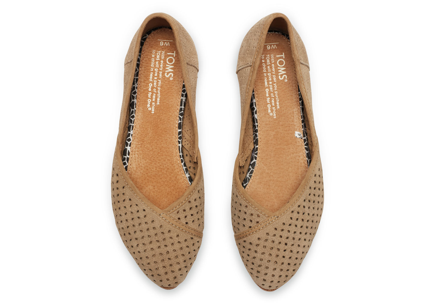 0510a1d39 TOMS Taupe Suede Perforated Women's Jutti Flats in Brown - Lyst