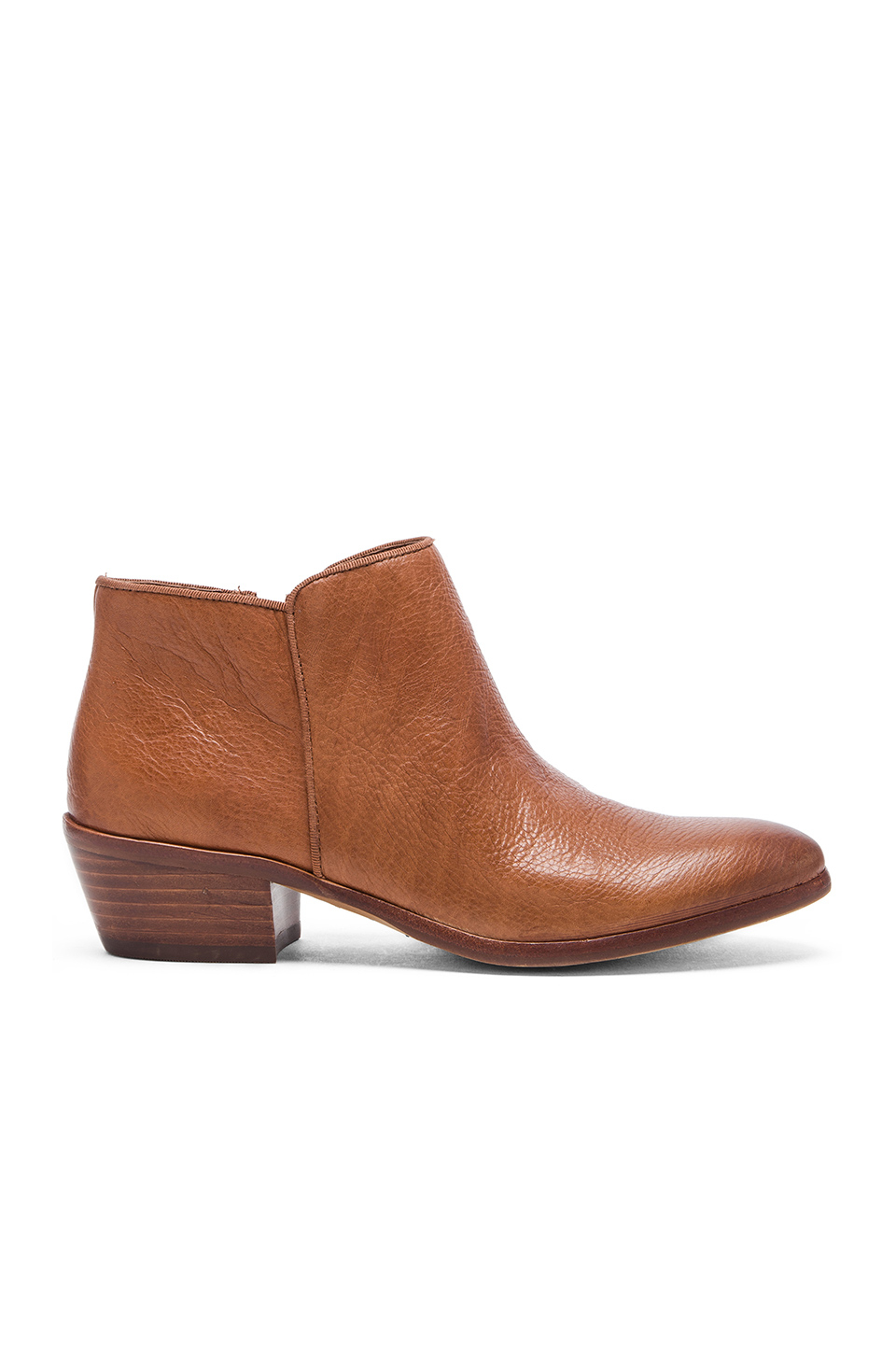 sam edelman petty leather ankle boots in brown soft
