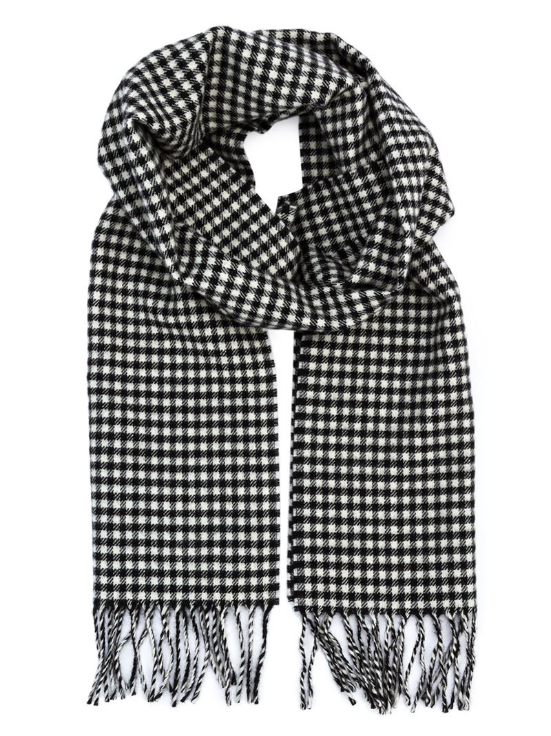 frayed scarf - Black Saint Laurent pPRTK