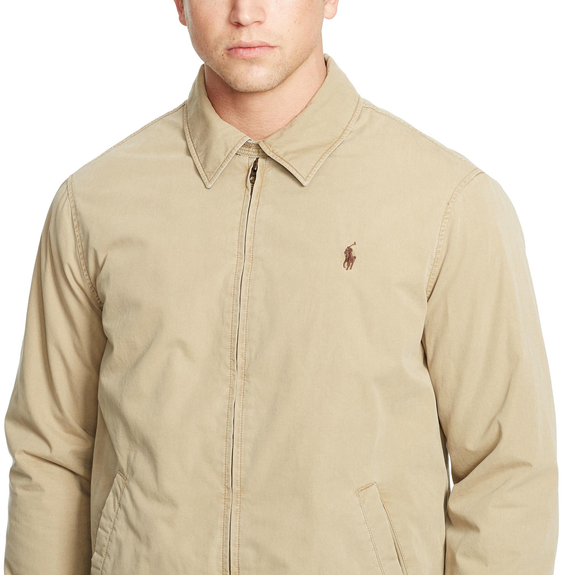 357006ef0 Polo Ralph Lauren Landon Cotton Poplin Jacket in Natural for Men - Lyst