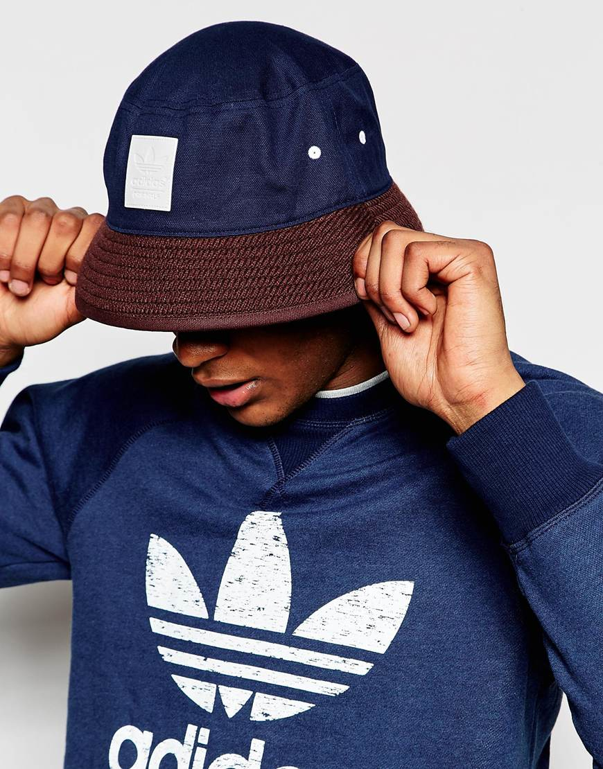 624111ef2e5 ... wholesale lyst adidas originals bucket hat ab3930 blue in blue for men  b0f2e 1c521 ...