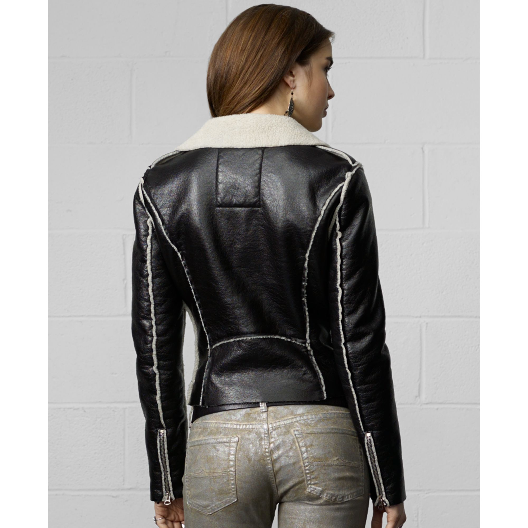 Lyst Denim Amp Supply Ralph Lauren Faux Leather