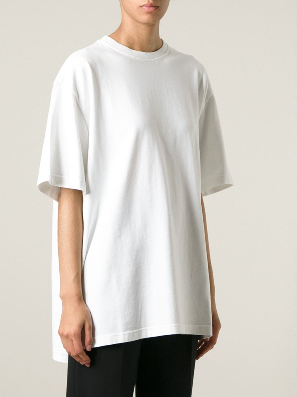 lyst vetements back print oversized t shirt in white. Black Bedroom Furniture Sets. Home Design Ideas