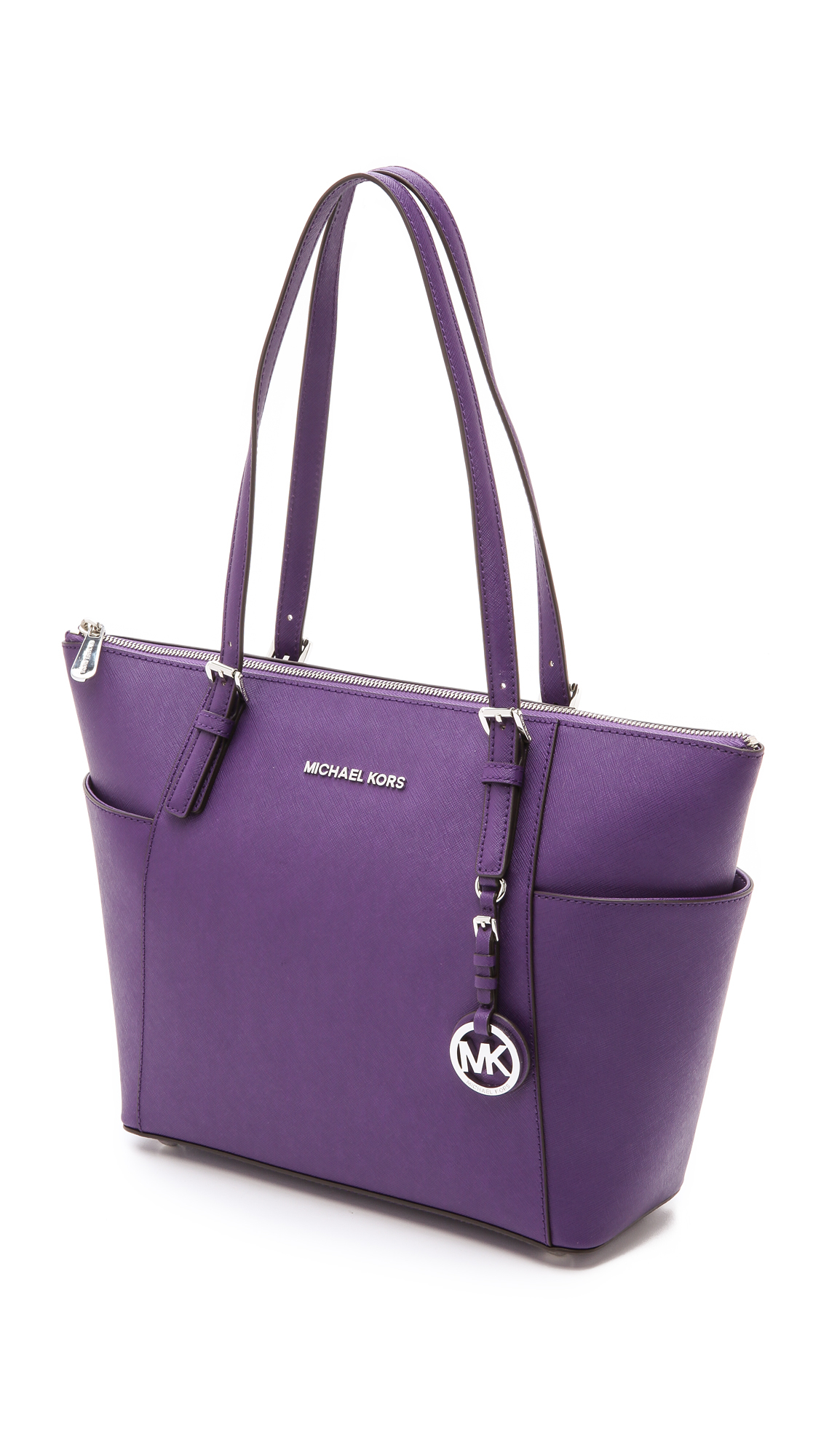 ffe9117ae ... best price michael michael kors jet set tote grape in purple lyst 4d67f  d327f
