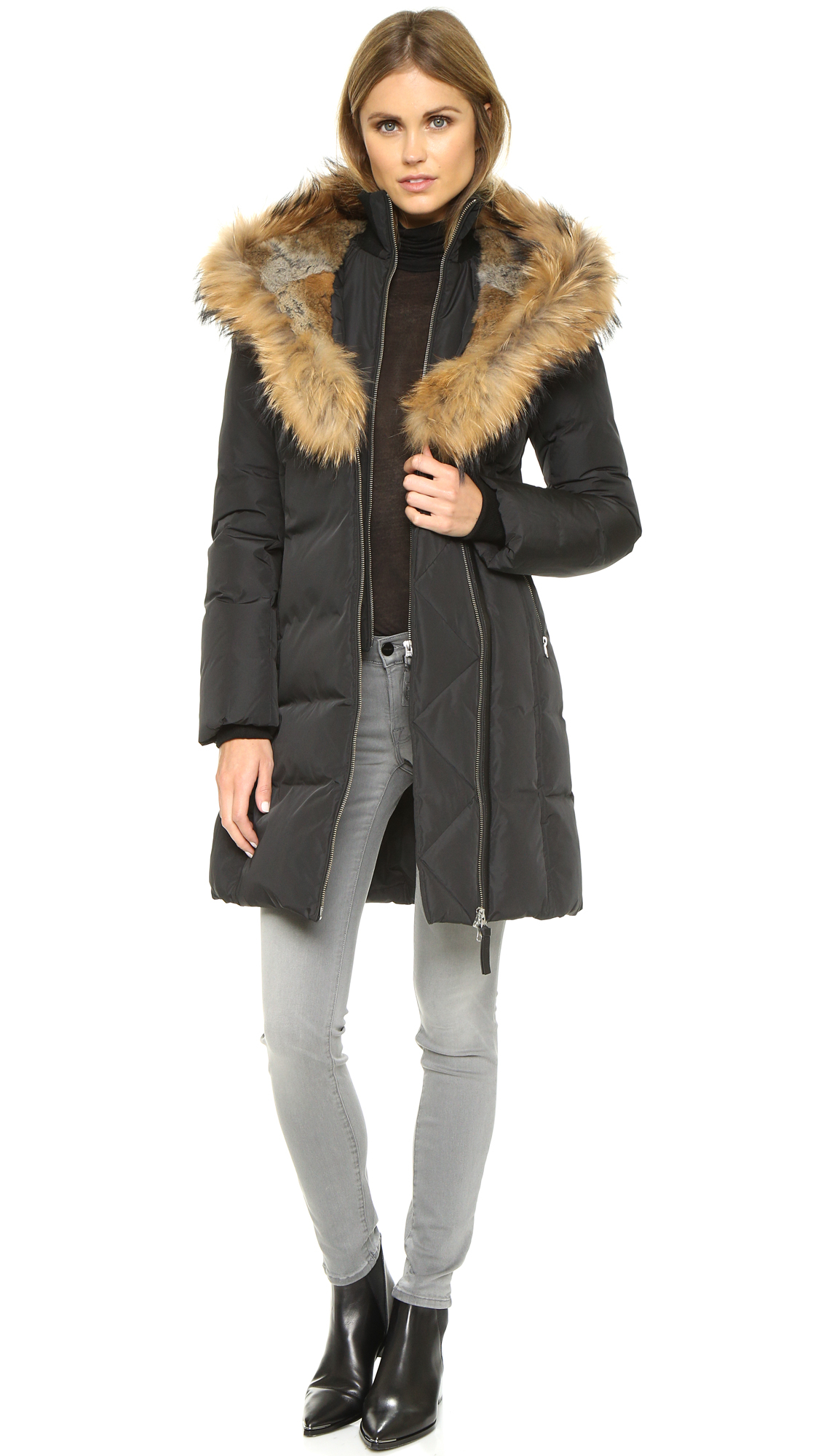 Mackage Fur Trish Lavish Down Coat In Black Lyst