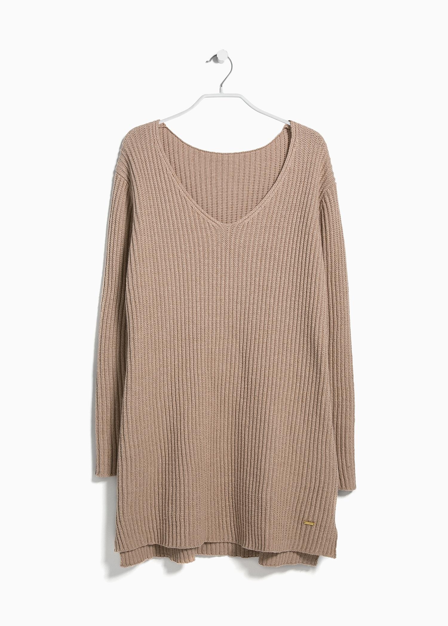 Violeta by mango Chunky-Knit Sweater in Beige (light beige ...