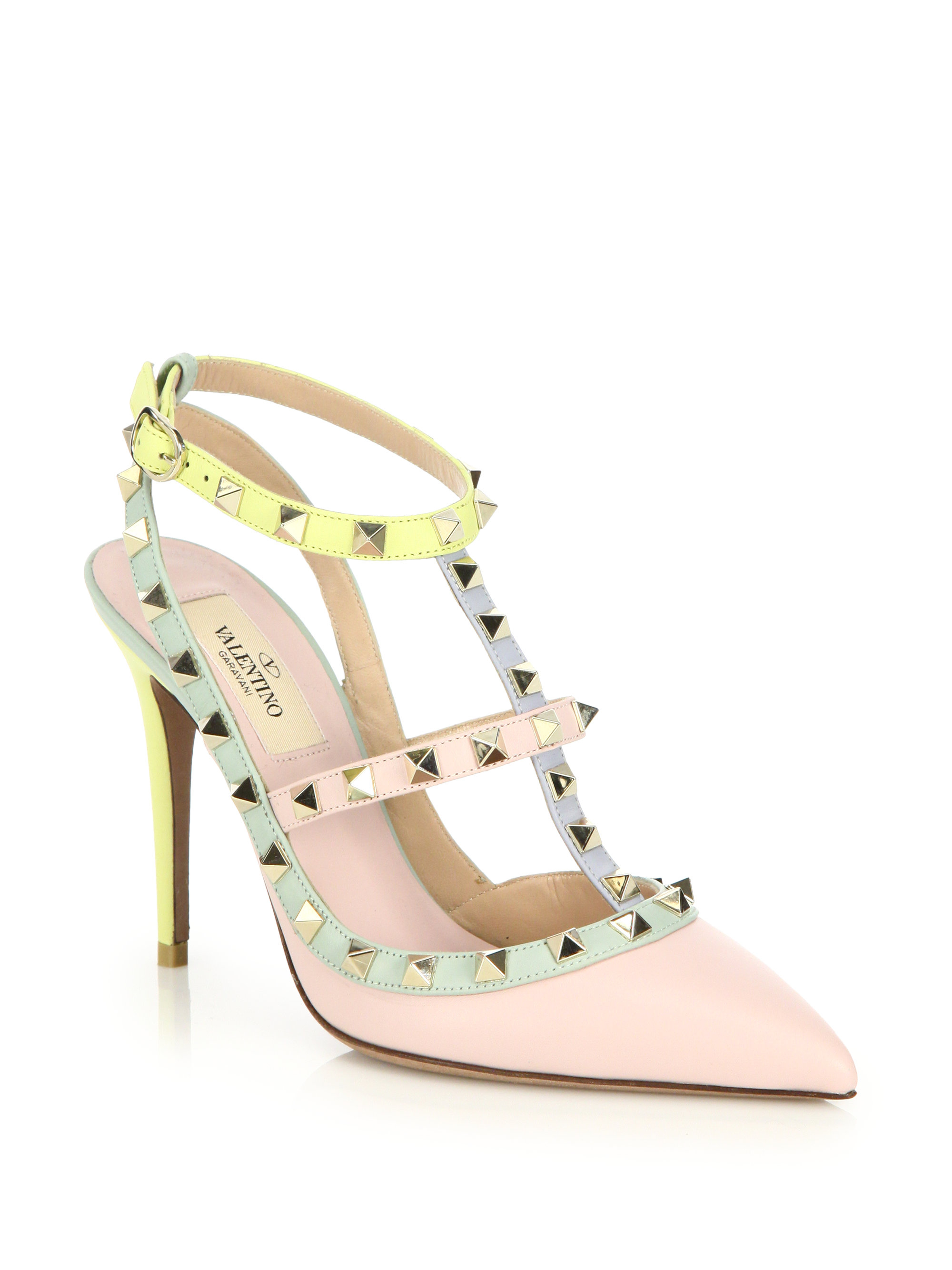free shipping view Valentino Leather Multicolor Pumps clearance comfortable lowest price cheap price WTkyHG23hI