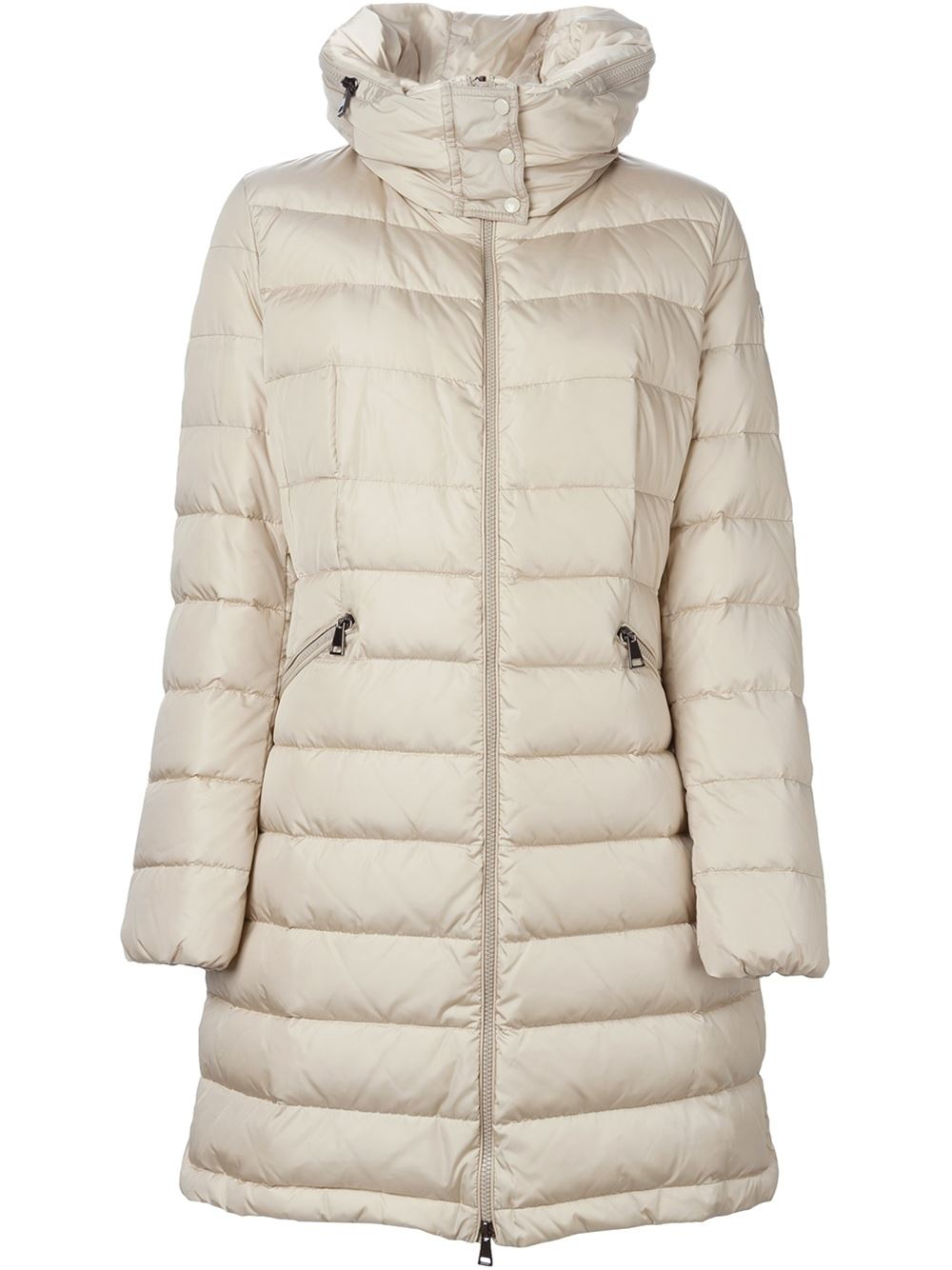 ce696c215c1b Lyst - Moncler  flammette  Padded Coat in Natural