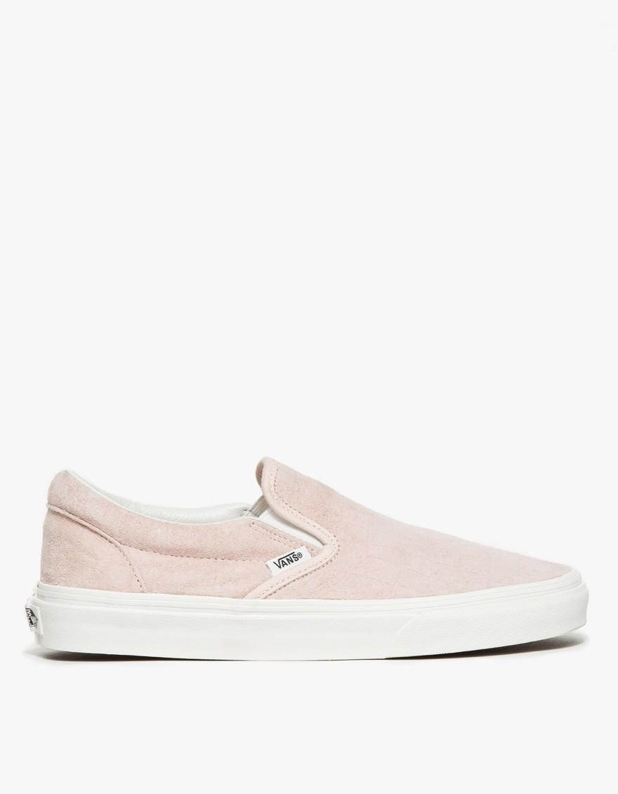 pink vans slip on