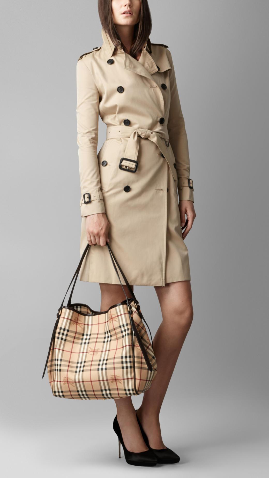 030c20c17f84 Lyst - Burberry Medium Haymarket Check Tote Bag in Brown