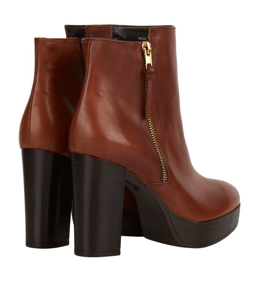 Carvela Kurt Geiger Supremo Platform Ankle Boot in Brown
