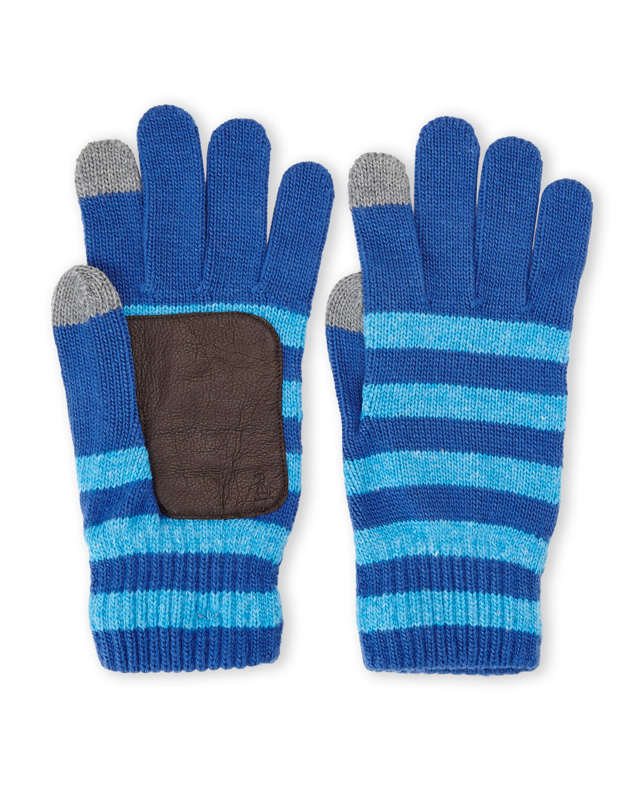 Knitting Patterns Striped Gloves : Original penguin Striped Knit Touch Gloves in Blue for Men (True Blue) Lyst
