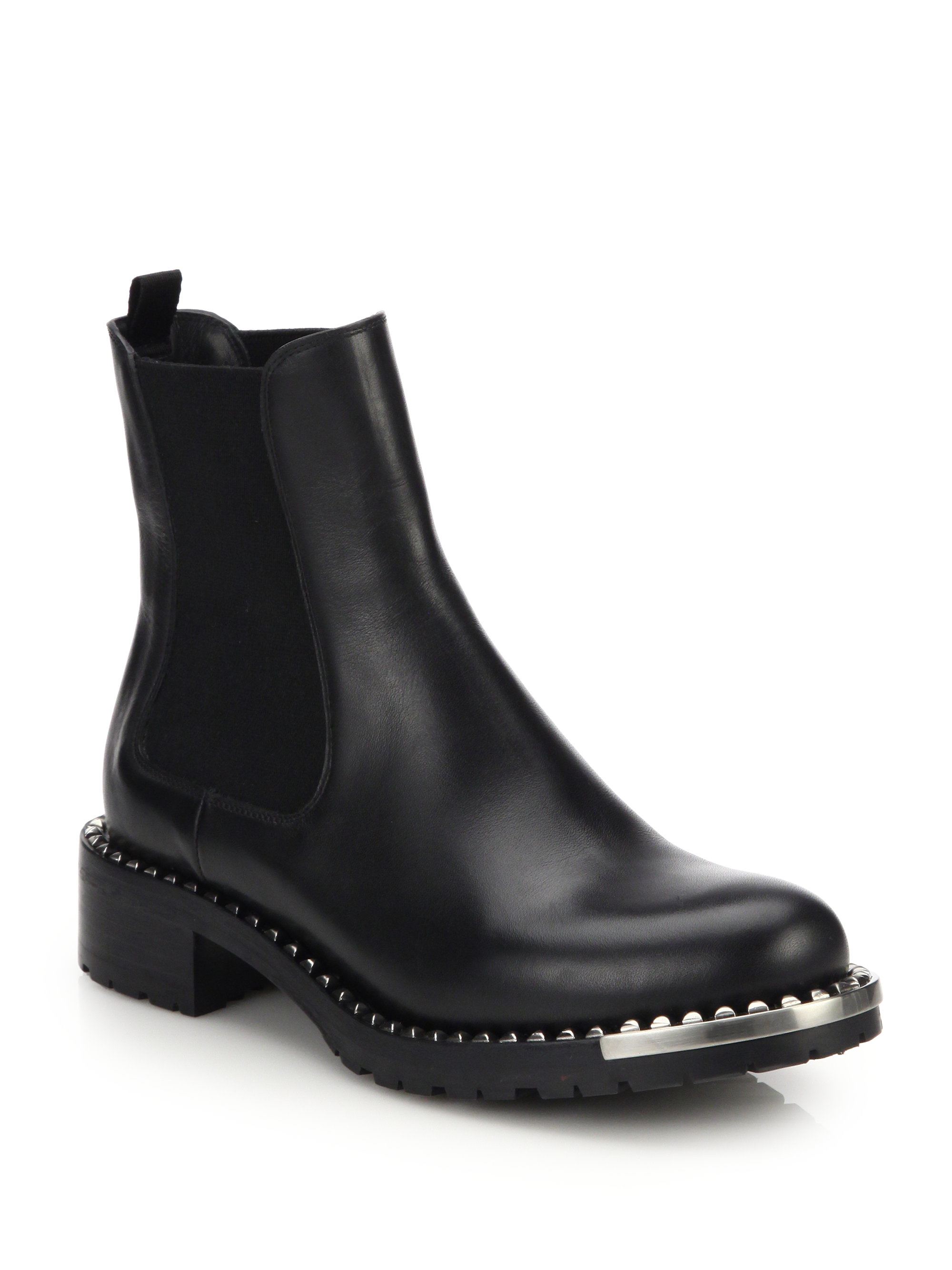 Women's Black Chelsea Leather Boots