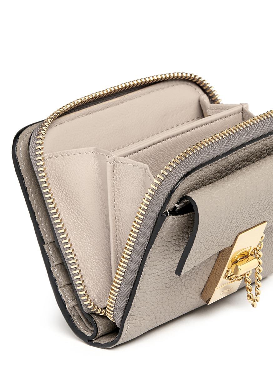 Drew leather wallet Chlo kzrPnk7Tj