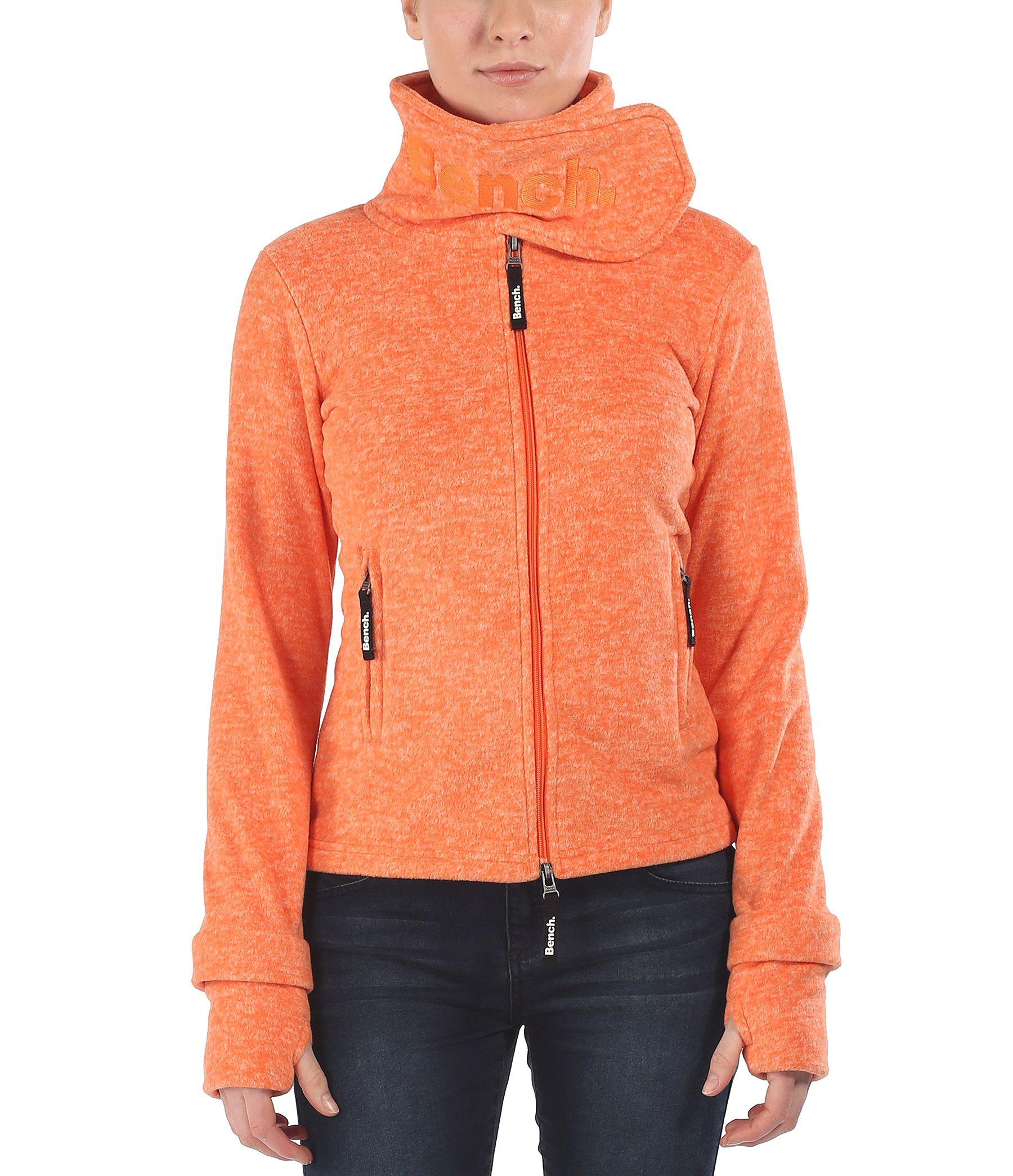 Bench Funnel H Zip Up Fleece Top in Orange