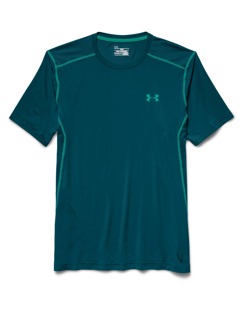 Lyst under armour raid t shirt in green for men for Teal under armour shirt